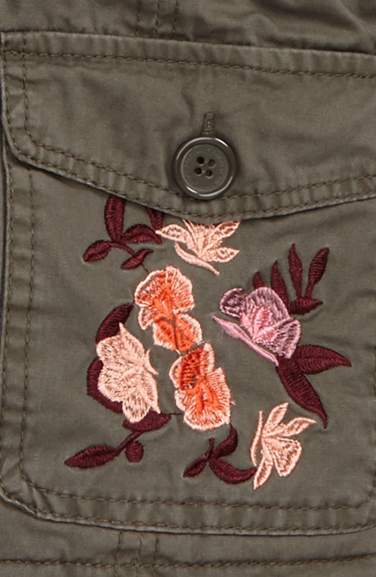 Alternate Image 2  - Jou Jou Embroidered Utility Jacket (Big Girls)