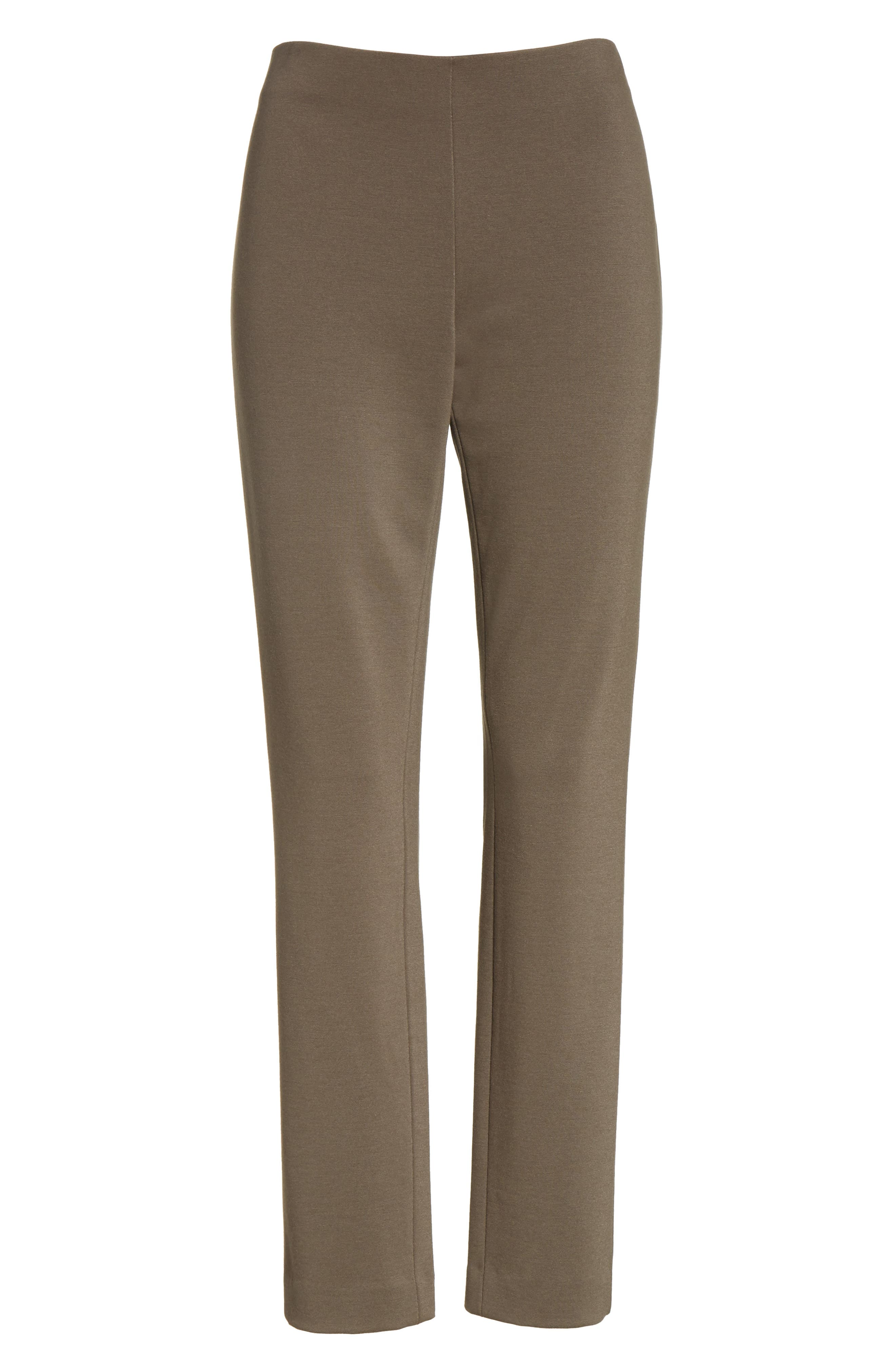 Heyward Punto Milano Slim Pants,                             Alternate thumbnail 7, color,                             Lead