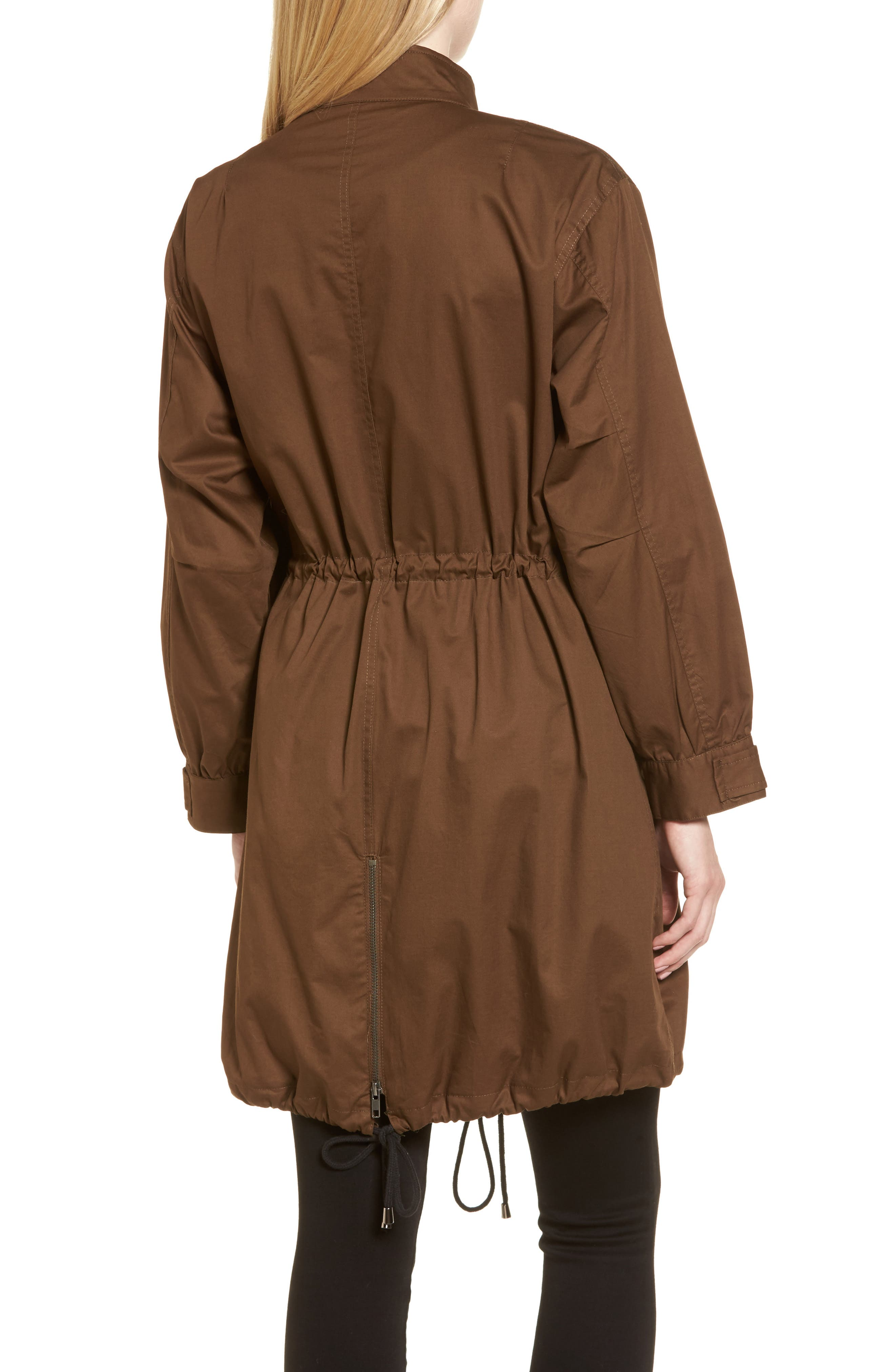 Oversize Military Coat,                             Alternate thumbnail 2, color,                             Olive