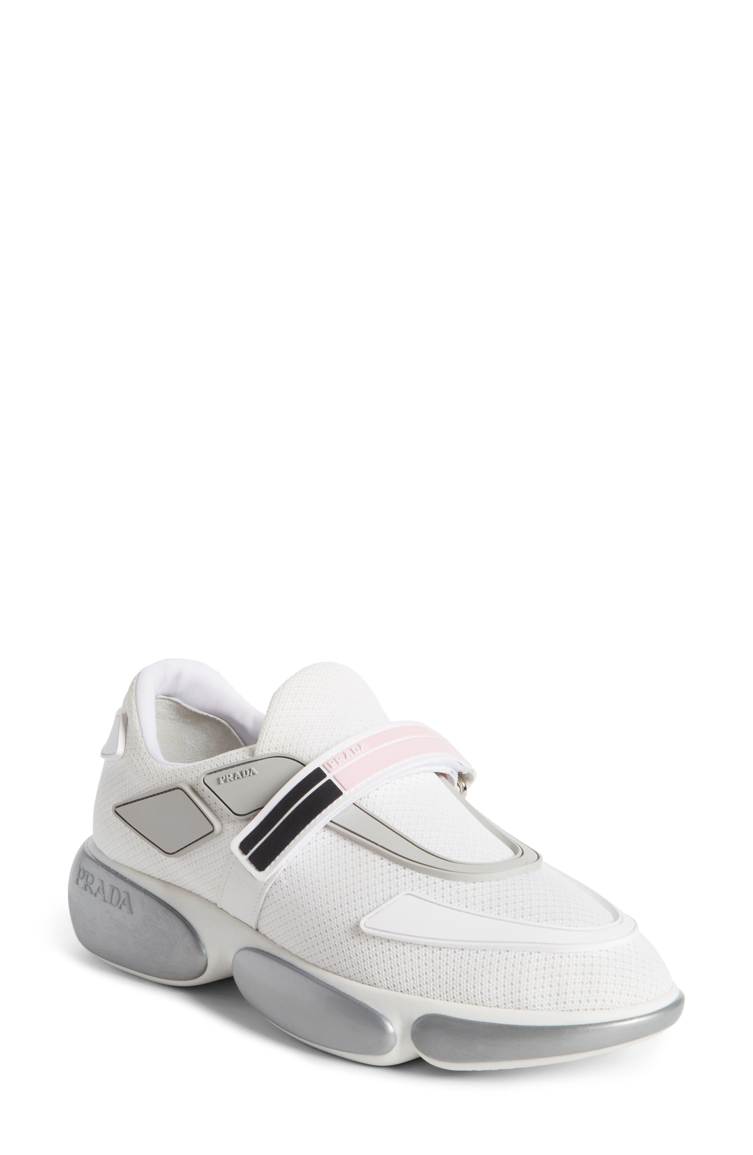 Slip on Sneakers for Women On Sale, Black, Nylon, 2017, 3.5 4 4.5 5 5.5 6 6.5 7.5 Prada