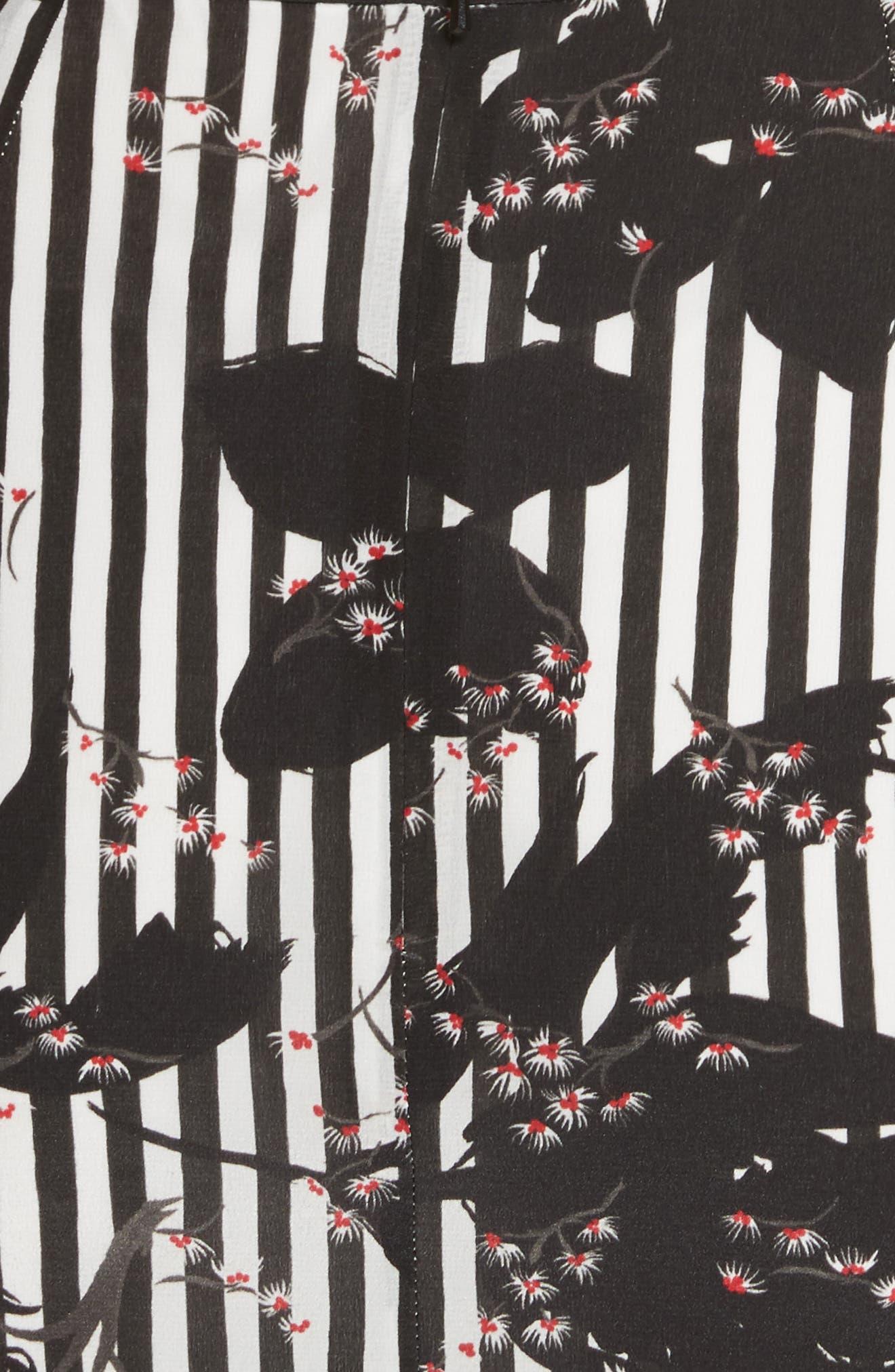 Alternate Image 5  - SALONI Grace Print Silk Off the Shoulder Dress
