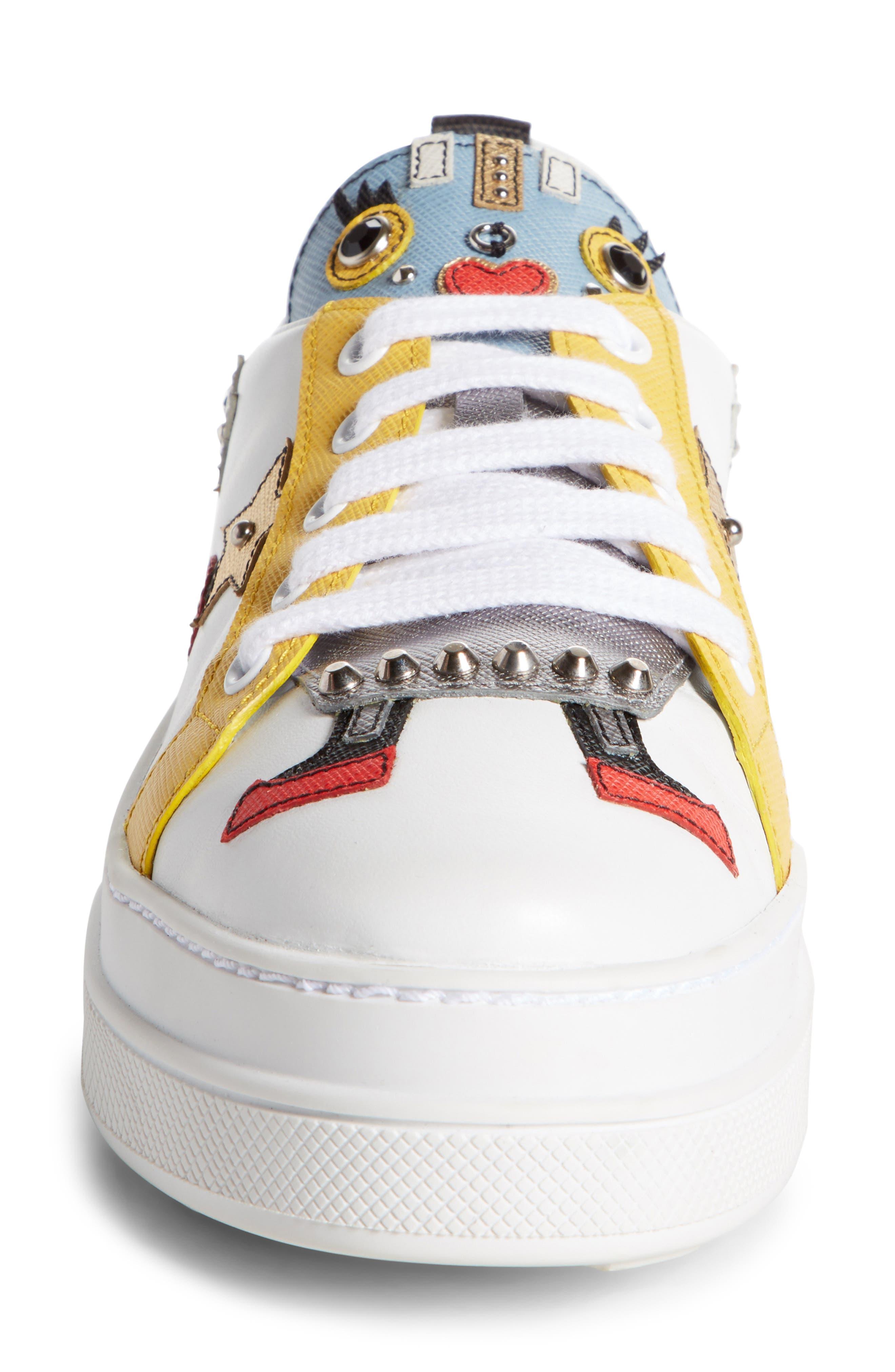 Robot Platform Sneaker,                             Alternate thumbnail 3, color,                             White