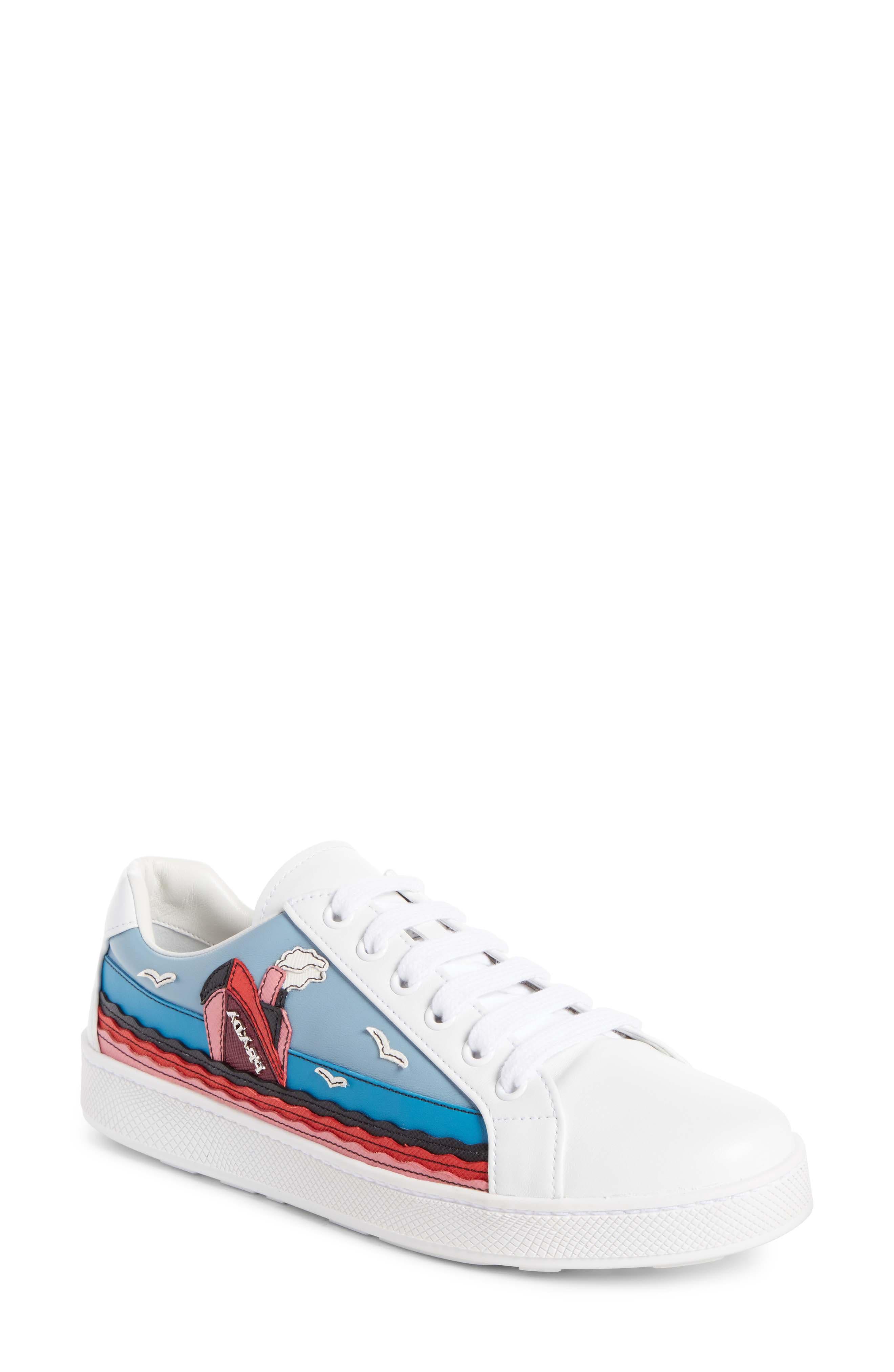 Boat Platform Lace-Up Sneaker,                             Main thumbnail 1, color,                             White