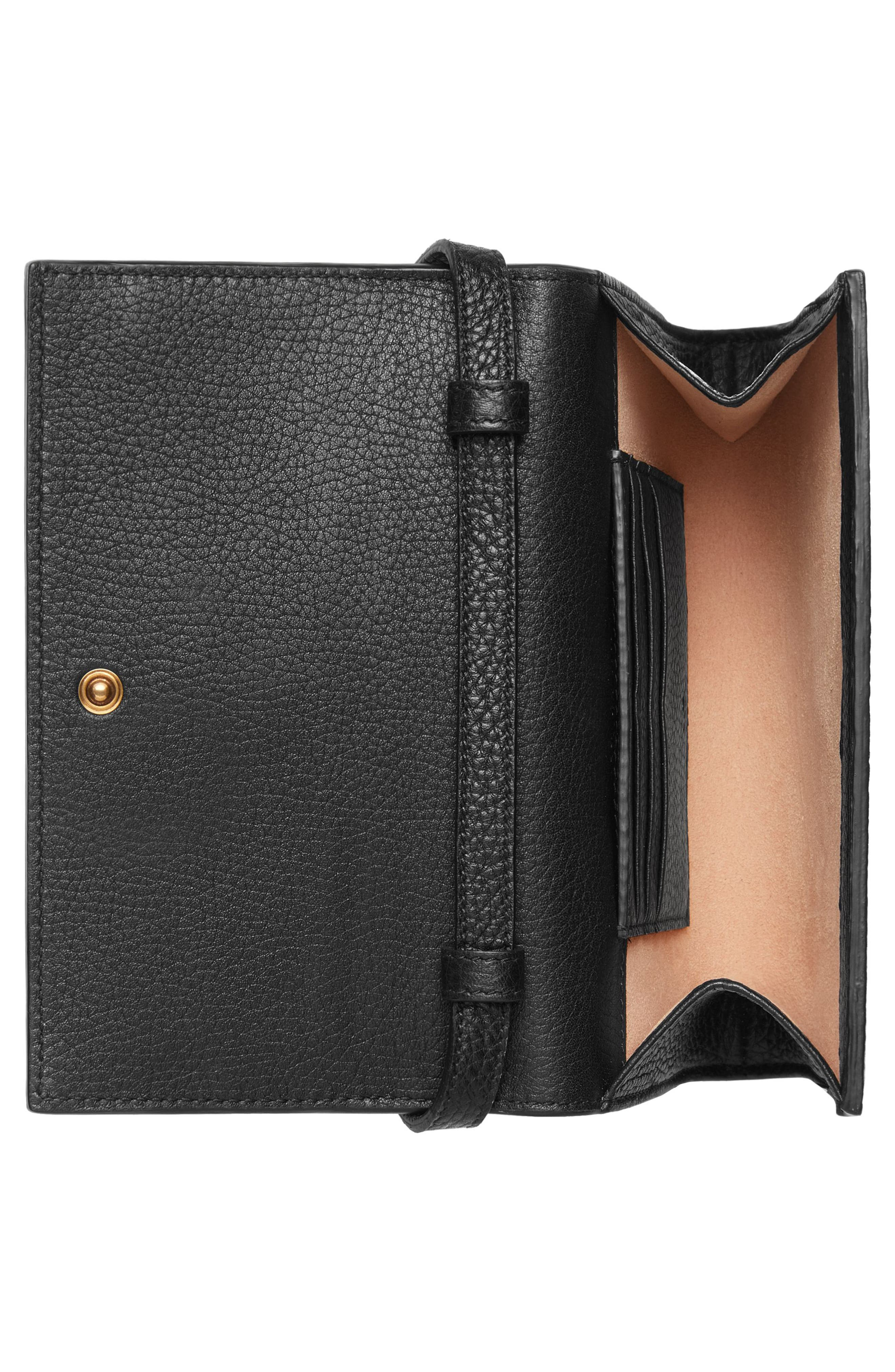 Animalier Bee Leather Wallet,                             Alternate thumbnail 2, color,                             Nero