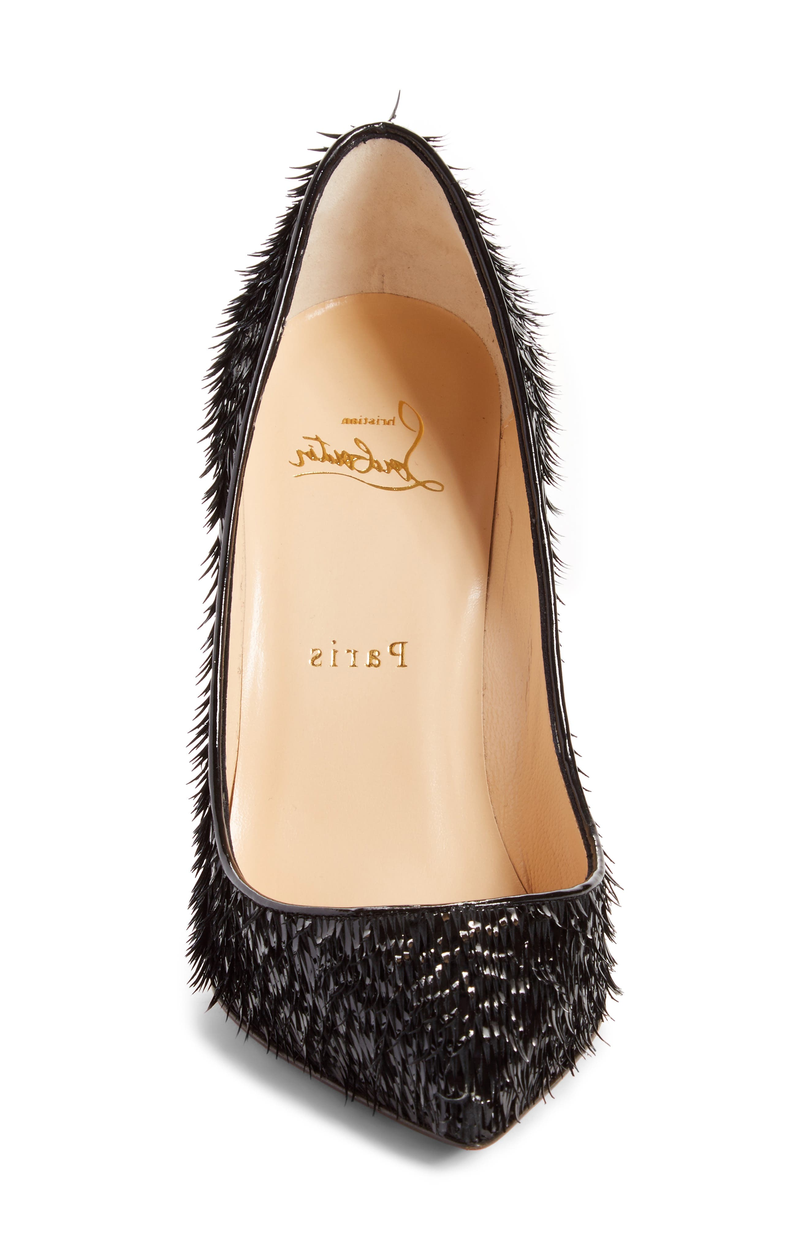 Pigalle Follies Pointy Toe Pump,                             Alternate thumbnail 4, color,                             Black