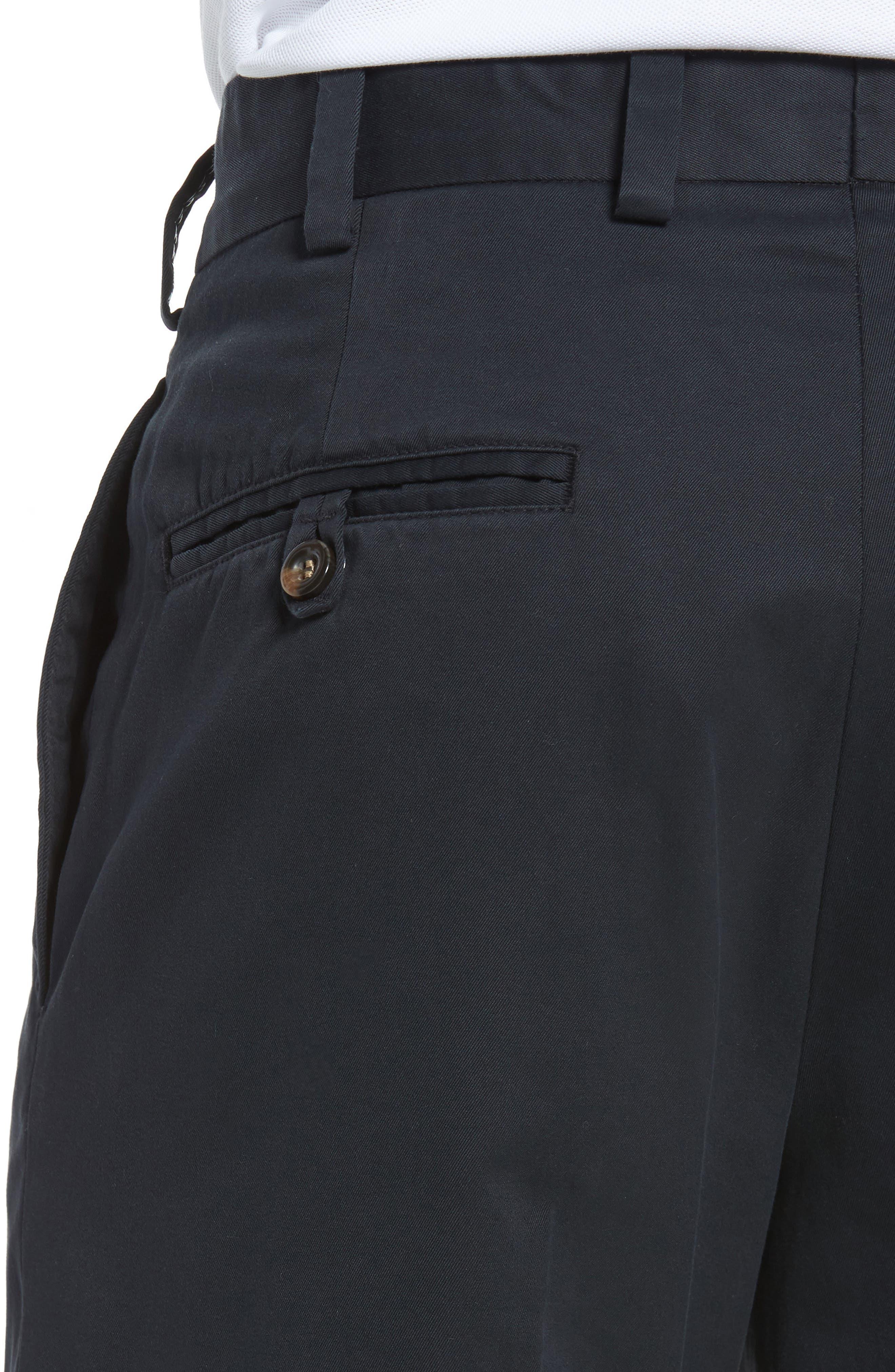 Classic Fit Chamois Cloth Pants,                             Alternate thumbnail 4, color,                             Black