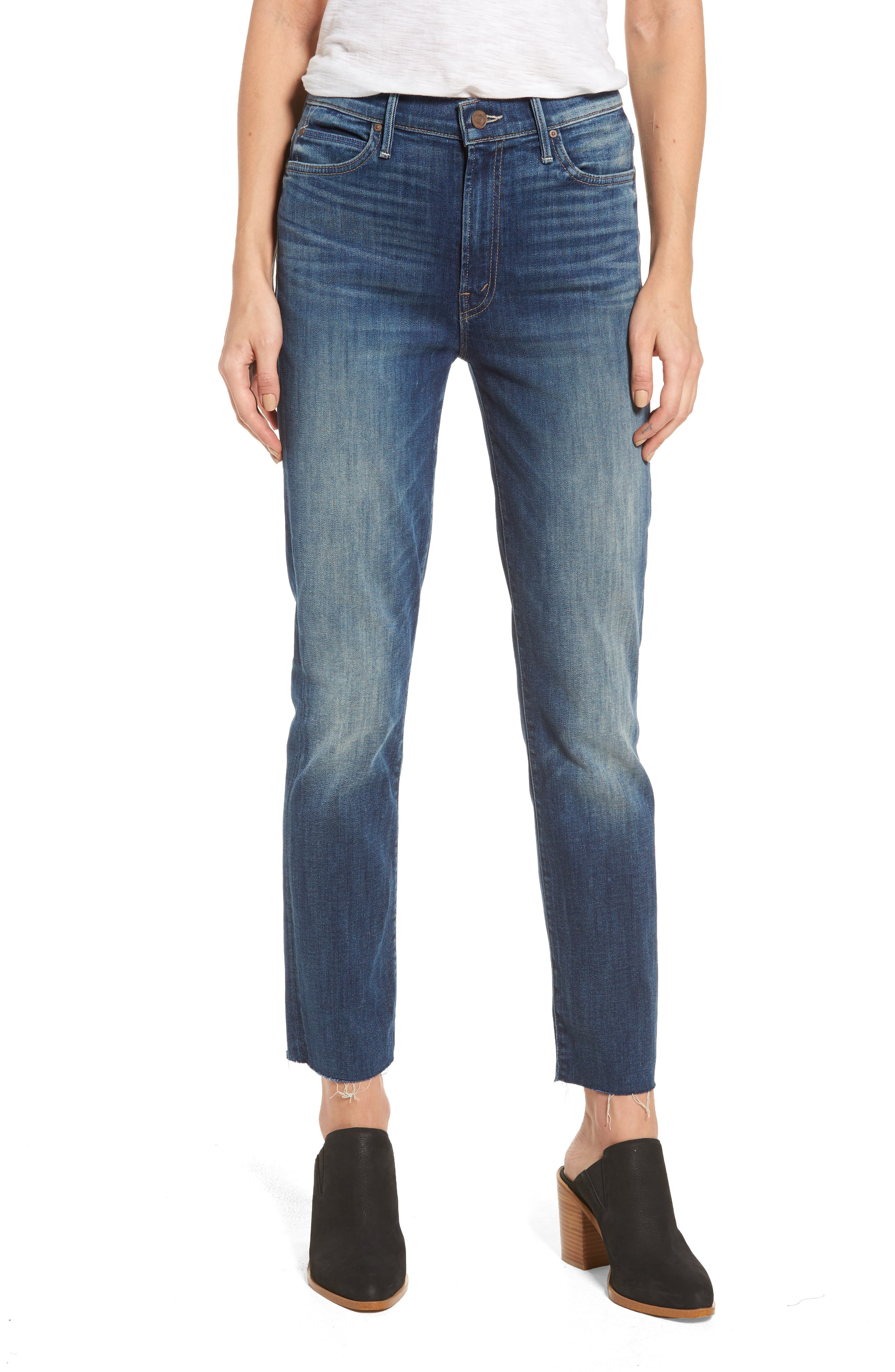 MOTHER Rascal Straight Leg Ankle Jeans (Whattcha Got Cookin)