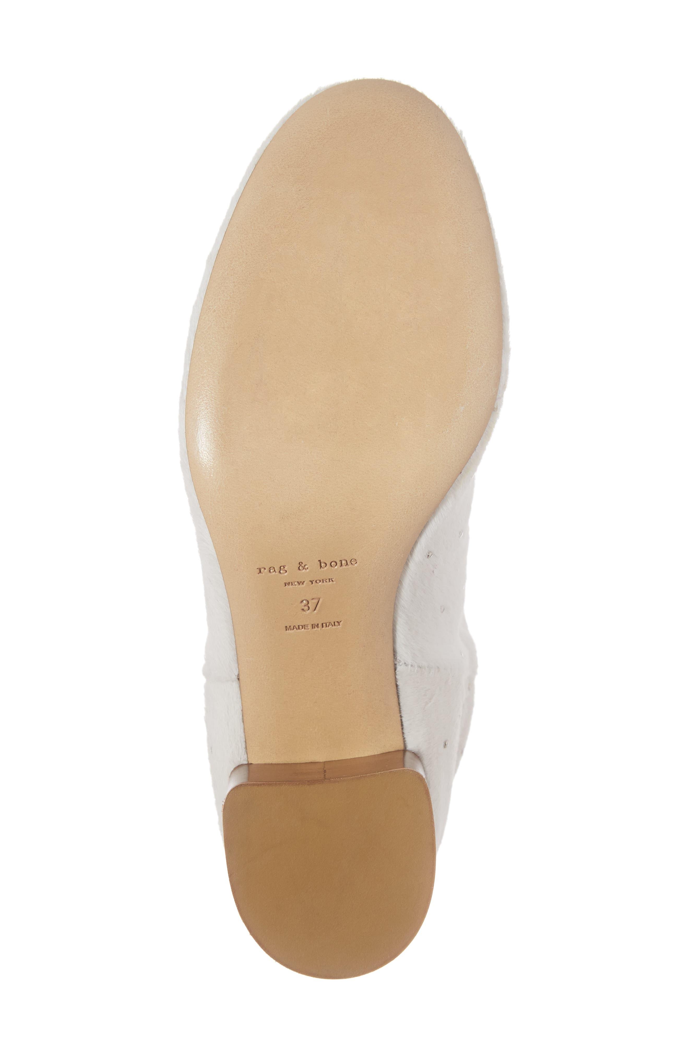 Drea Genuine Calf Hair Block Heel Bootie,                             Alternate thumbnail 6, color,                             White Hair