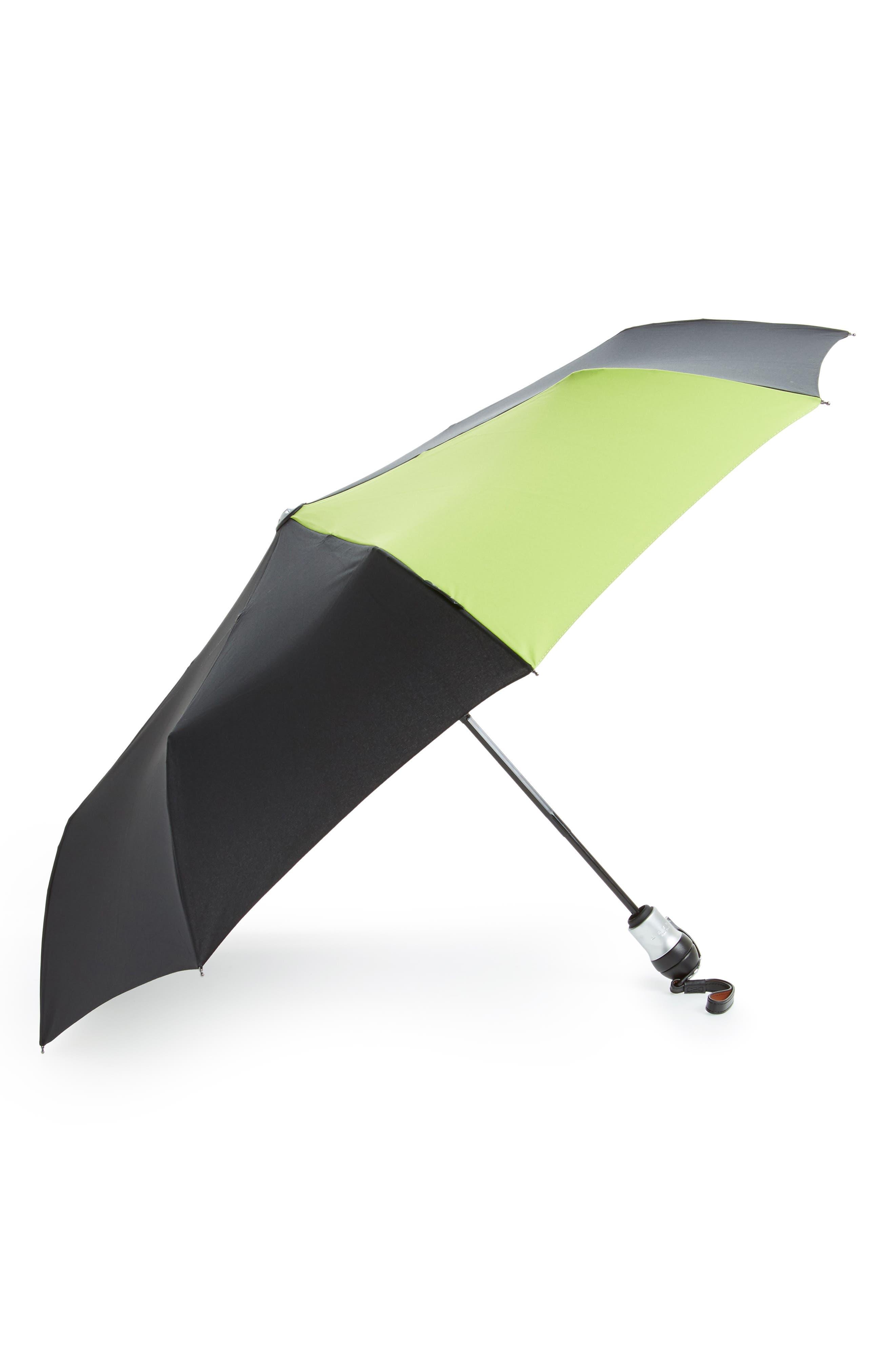 Solo Medium Umbrella,                             Main thumbnail 1, color,                             Black/ Wasabi Green