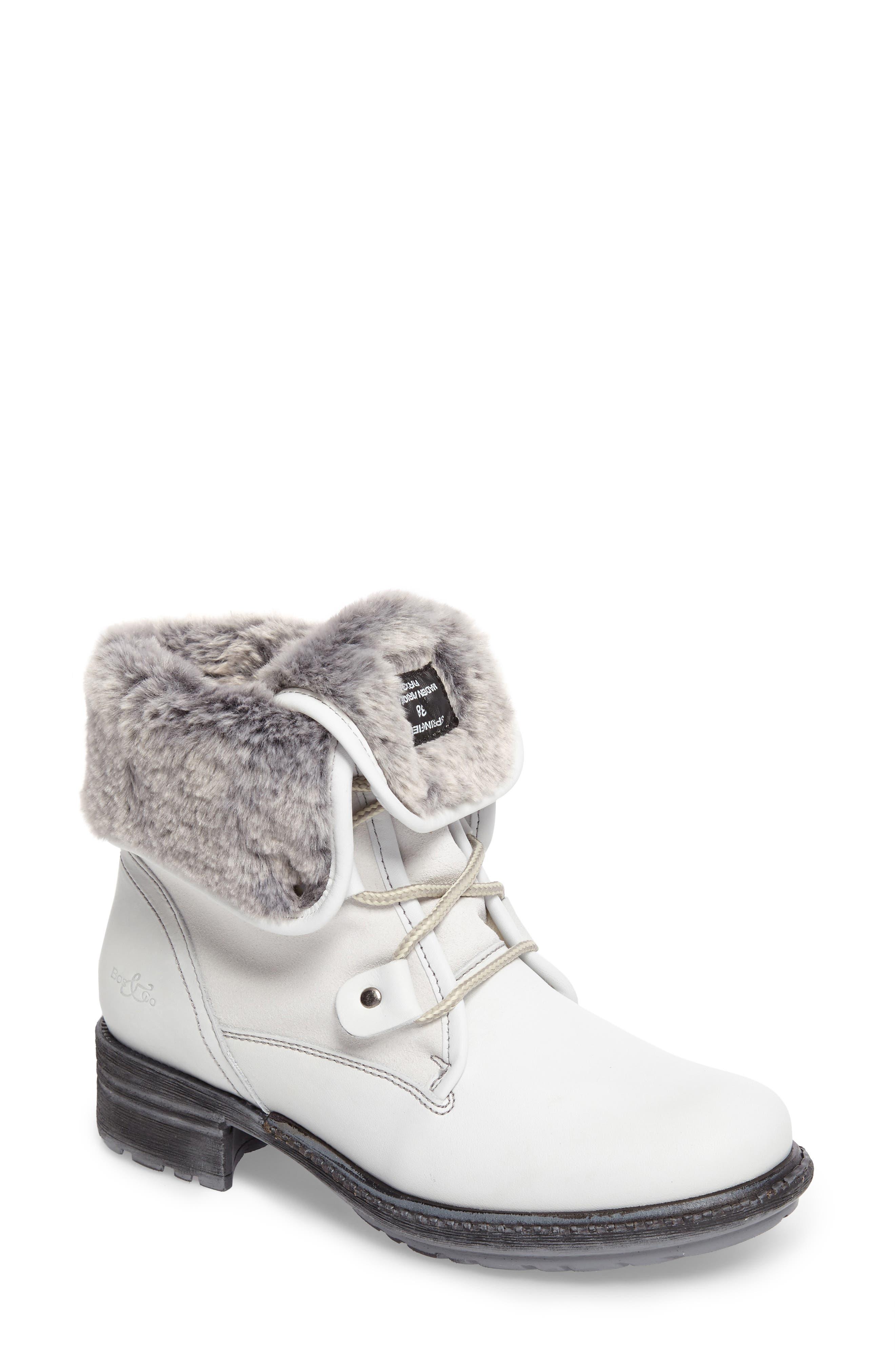 Springfield Waterproof Winter Boot,                             Main thumbnail 1, color,                             White/ Grey/ Black