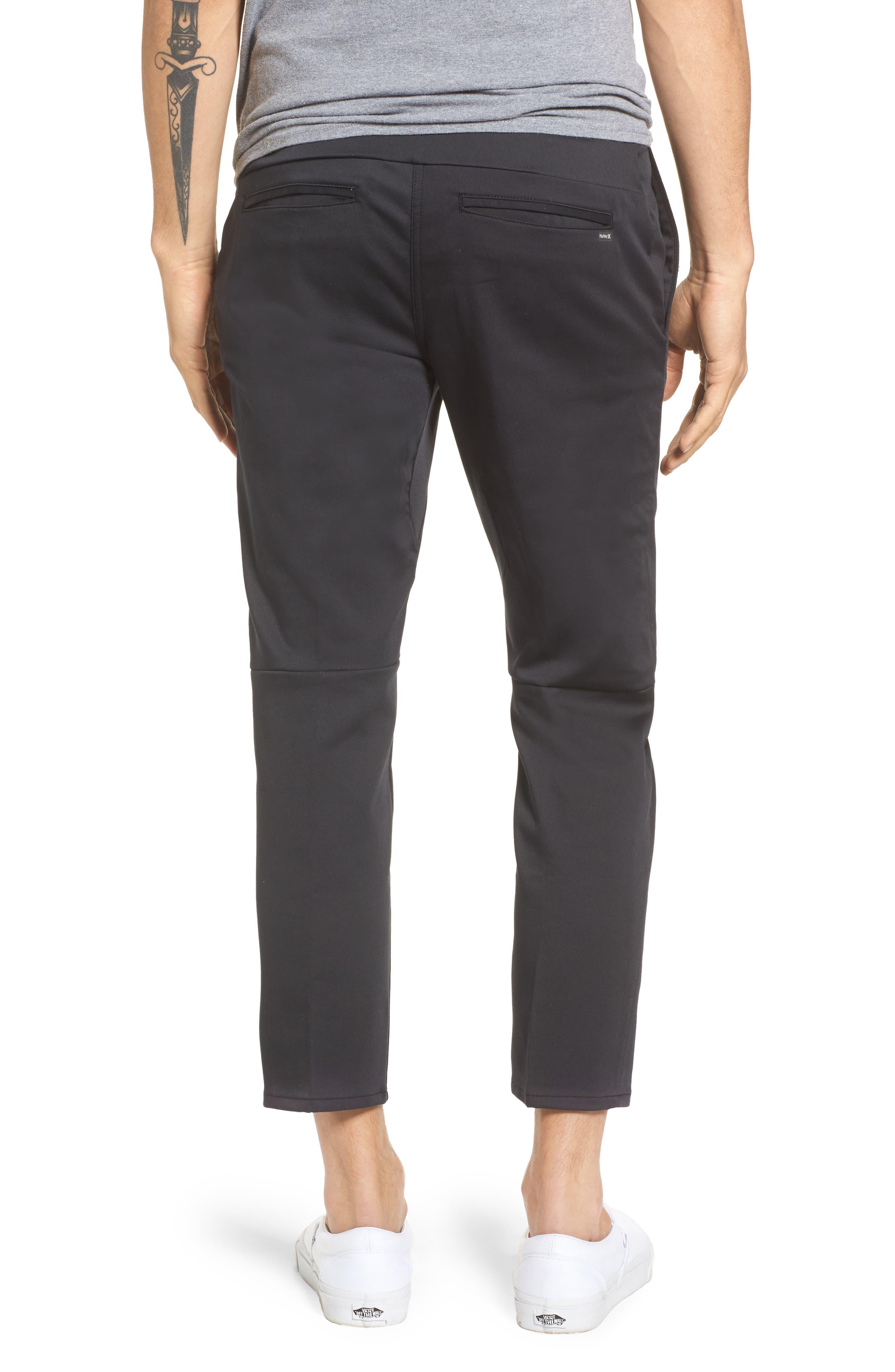 Covert Slim Fit Crop Pants,                             Alternate thumbnail 2, color,                             Black