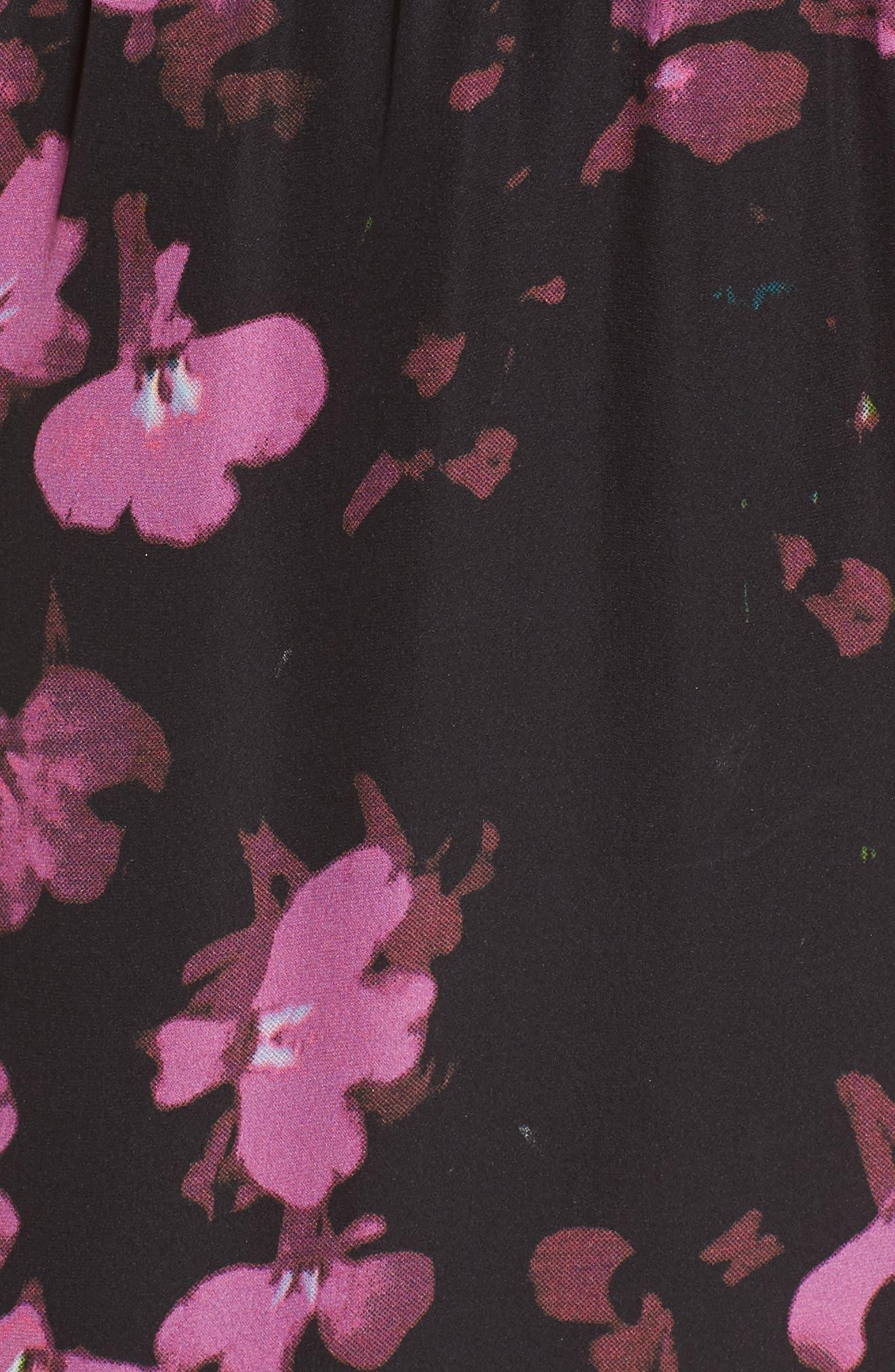 Zinnia Ruffle Silk Dress,                             Alternate thumbnail 5, color,                             Petalbloom
