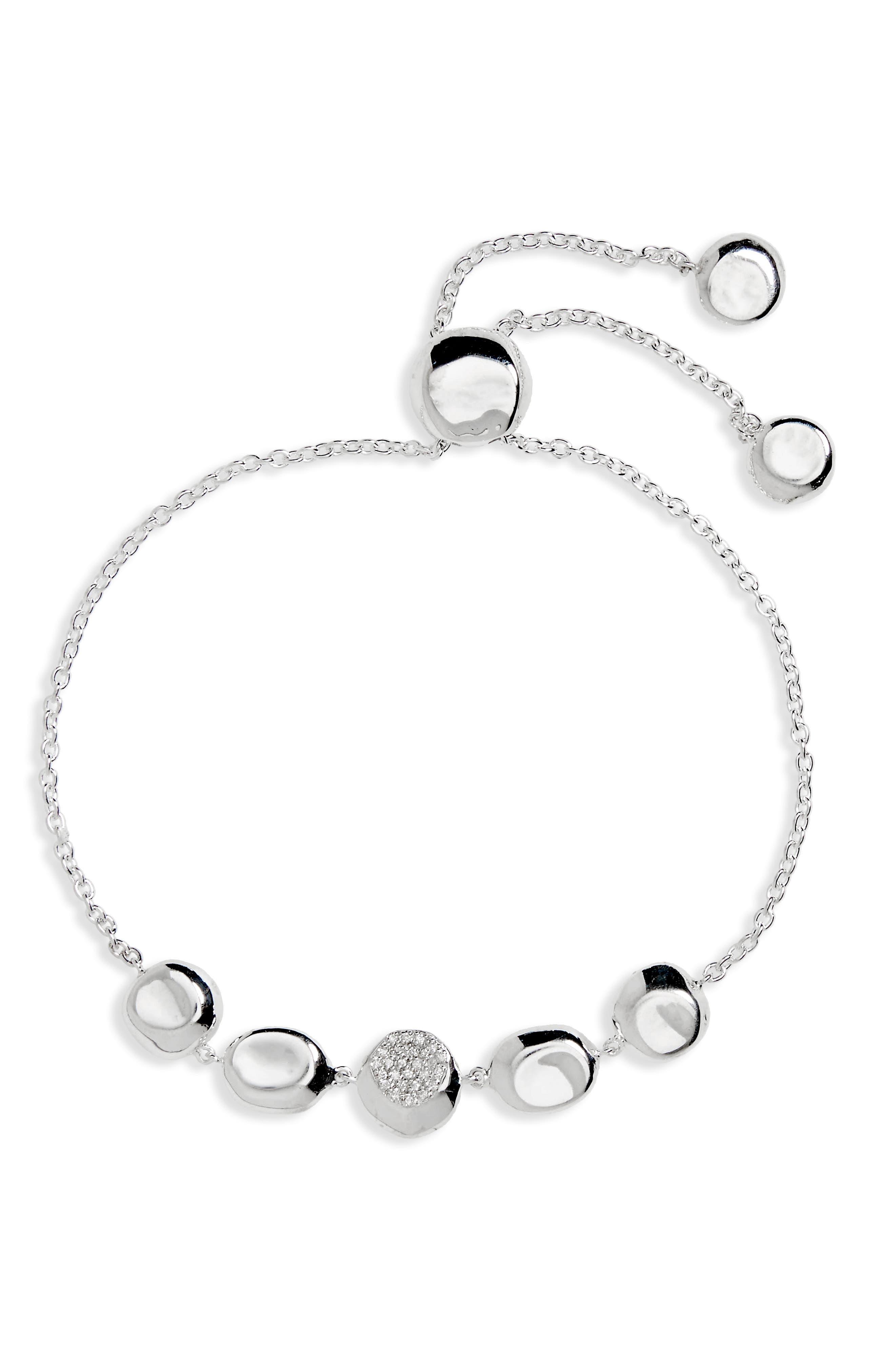 Alternate Image 1 Selected - Ippolita Onda Diamond Station Bracelet