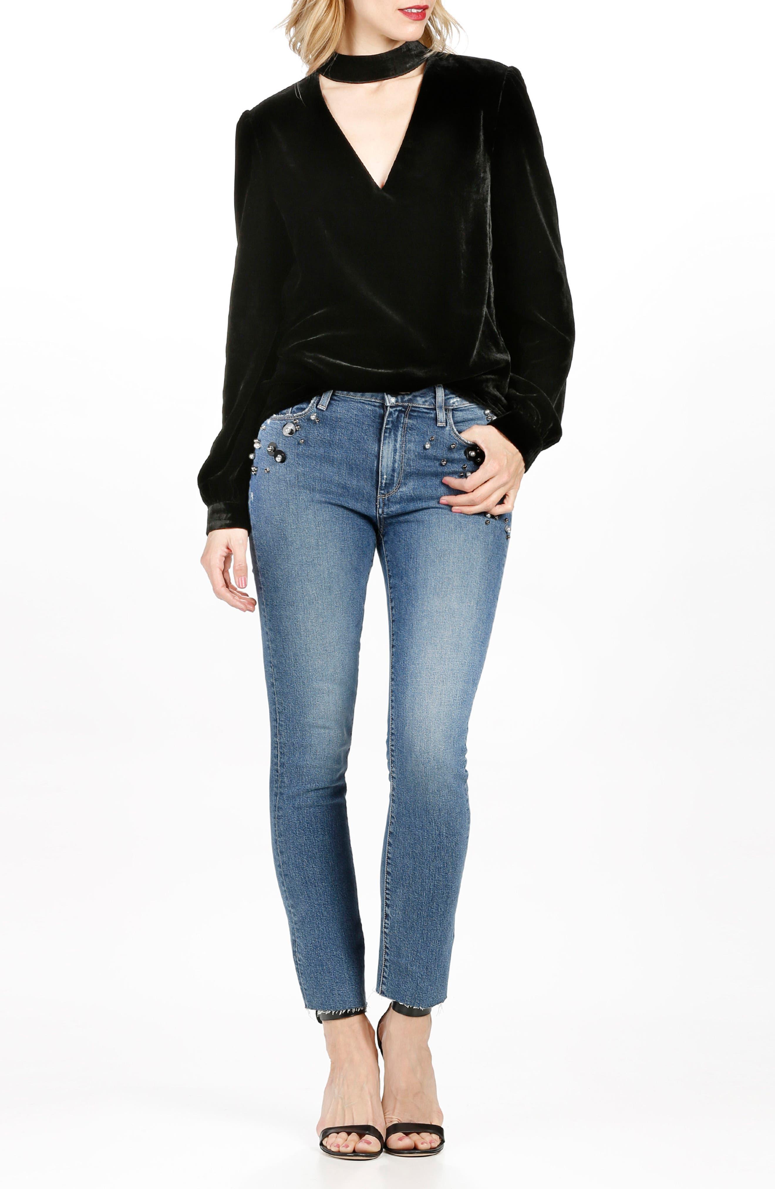 Alternate Image 3  - PAIGE Jacqueline High Waist Ankle Straight Leg Jeans (Naveen Embellished)