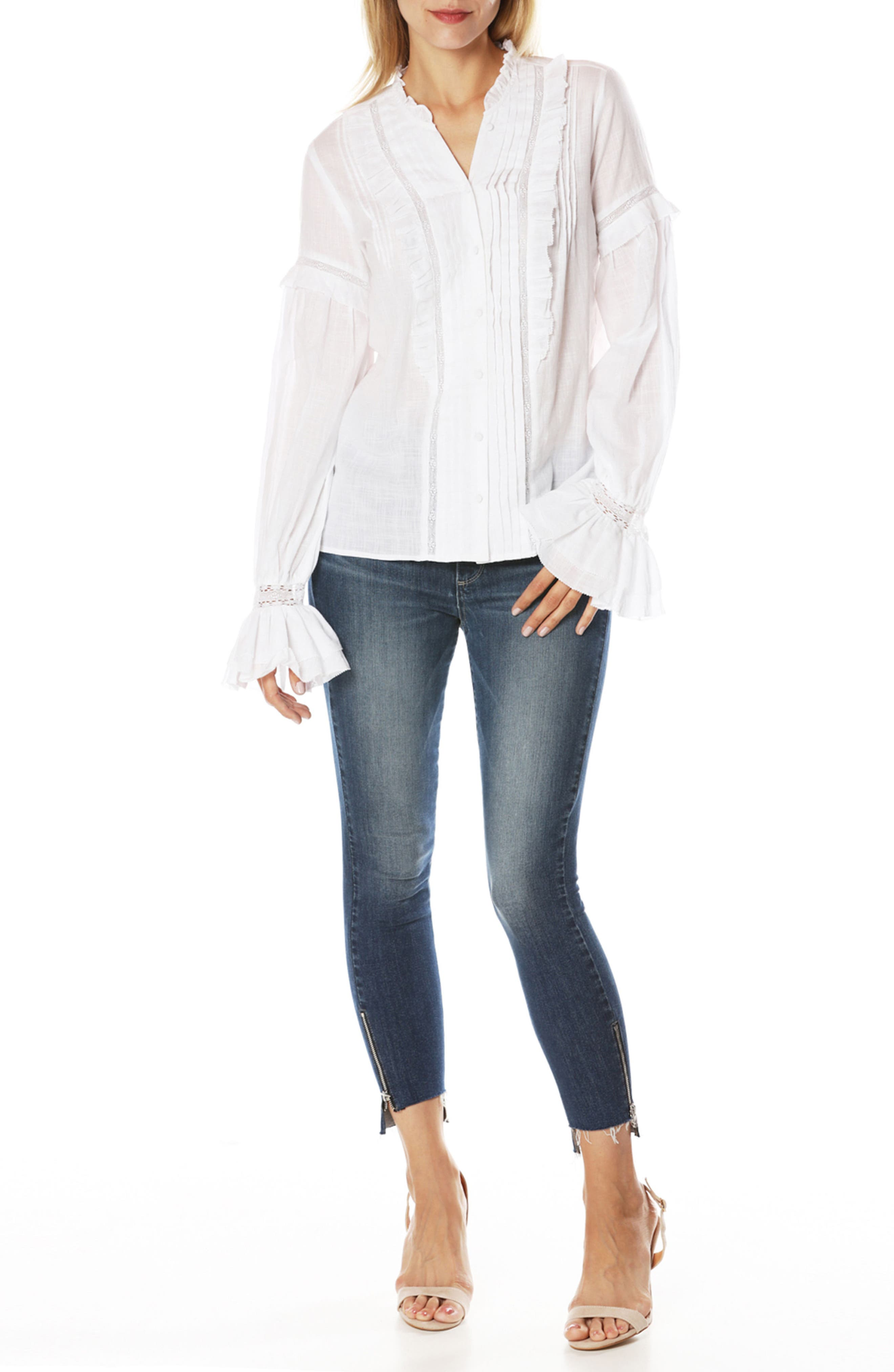 Alternate Image 2  - PAIGE Transcend Vintage - Hoxton High Waist Ankle Straight Leg Jeans (Malibu)