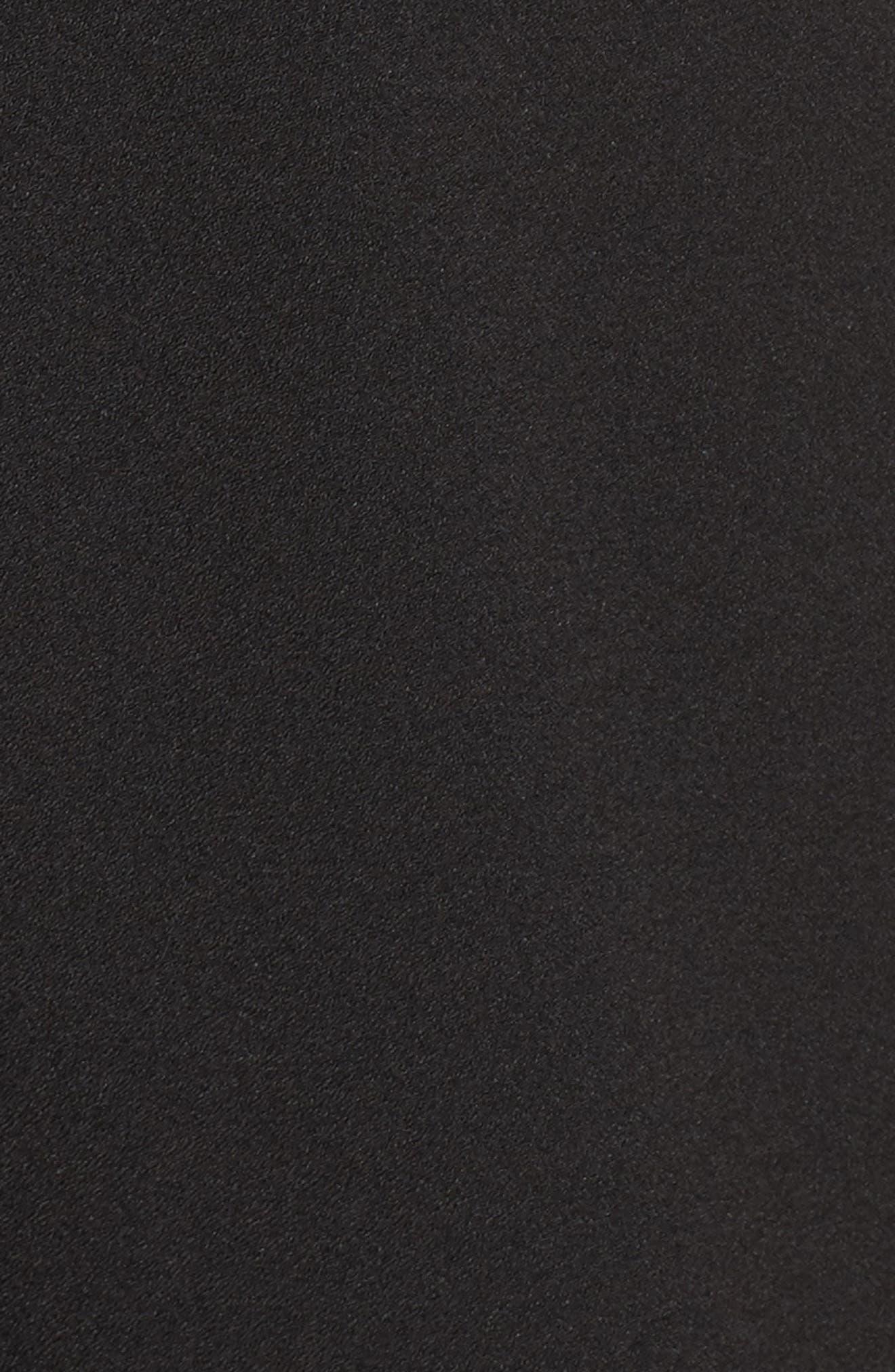 Cape Overlay One-Shoulder Jumpsuit,                             Alternate thumbnail 5, color,                             Black