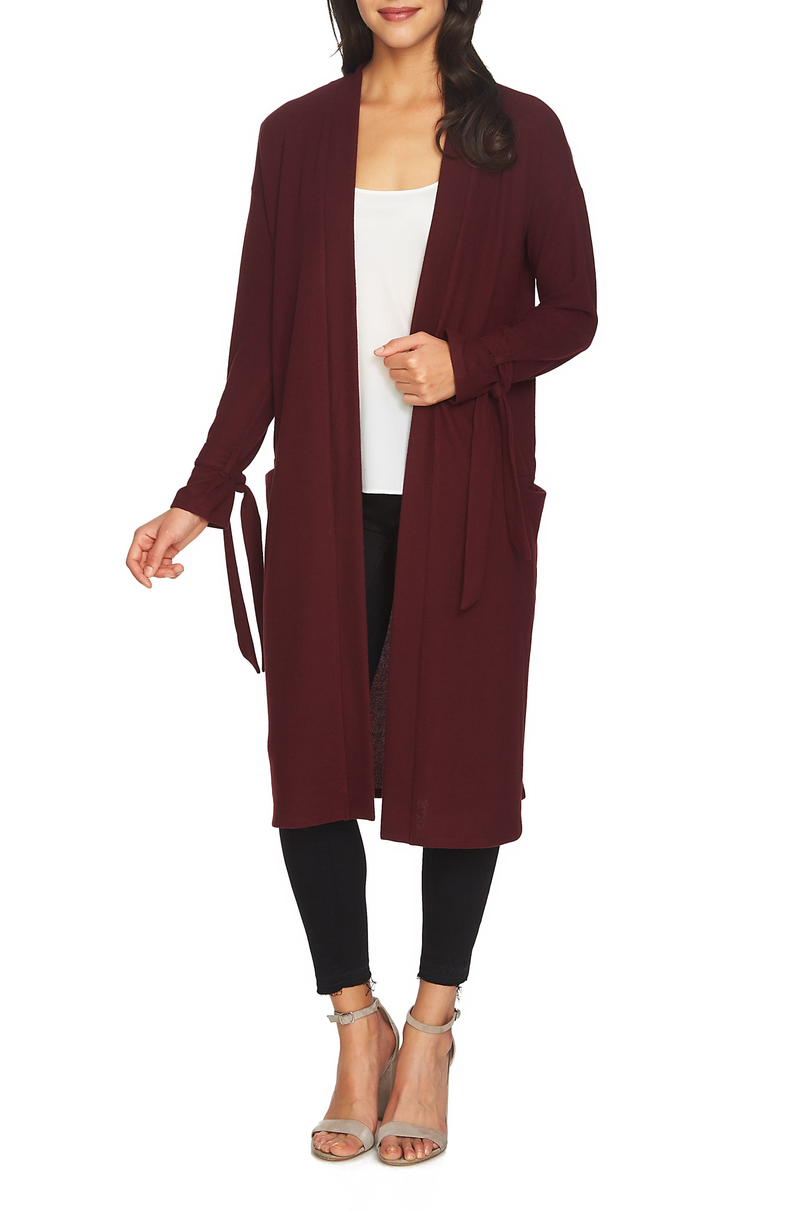 1.STATE The Cozy Tie Sleeve Cardigan