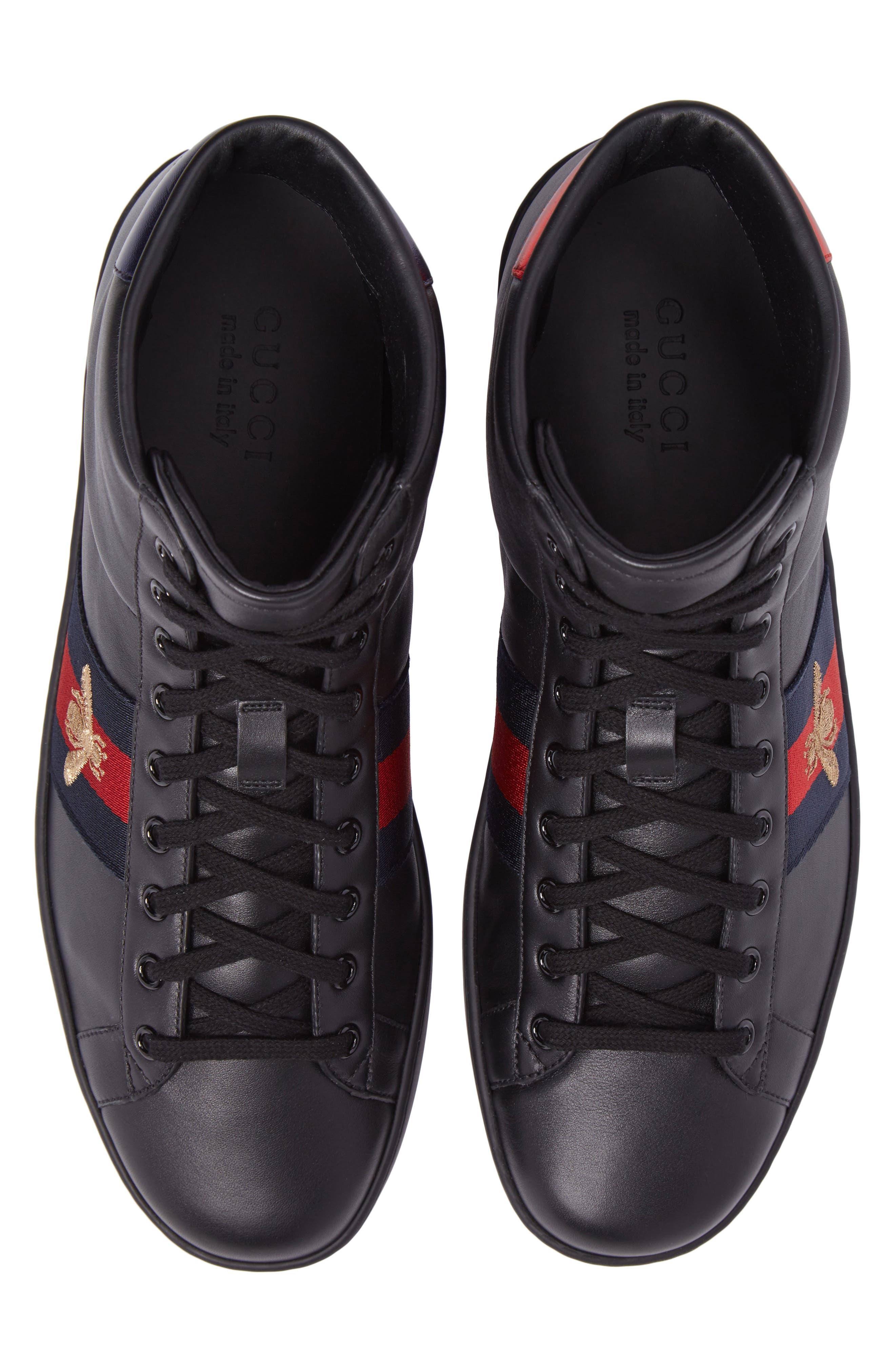 Ace High Top Sneaker,                             Alternate thumbnail 5, color,                             Black