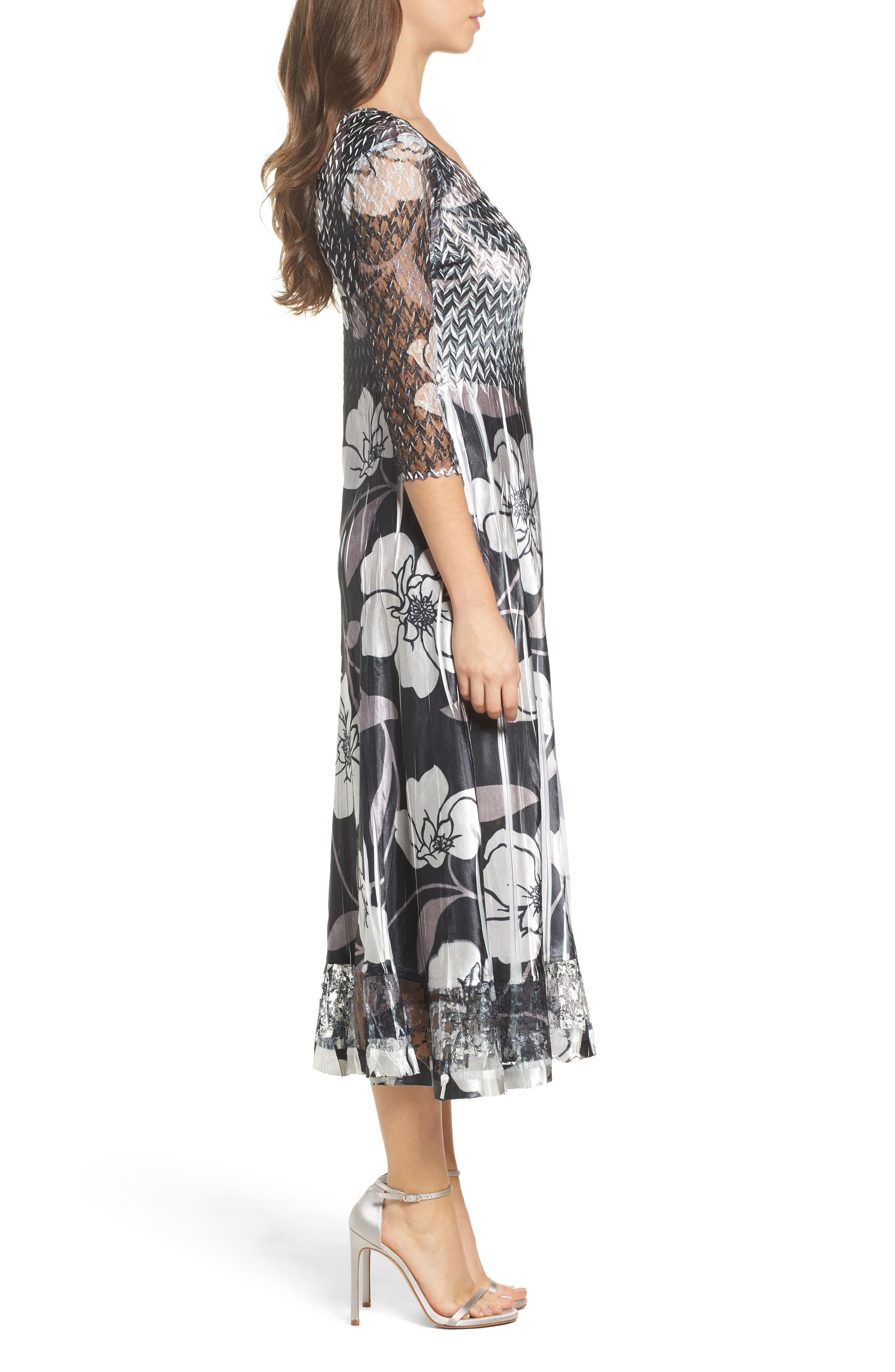 Alternate Image 3  - Komarov Floral A-Line Dress