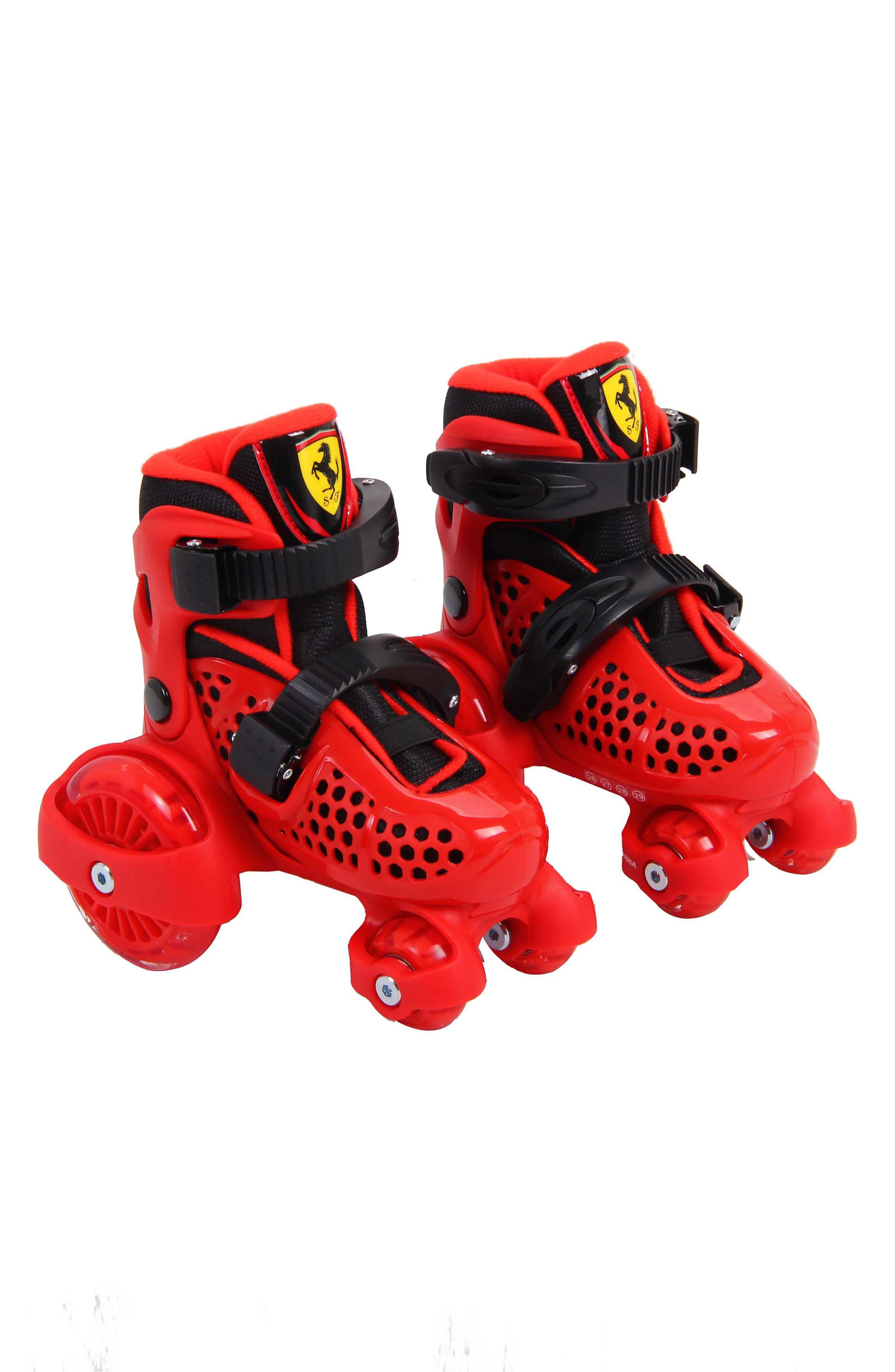 My First Skate Rollerskate & Protective Gear Set,                             Main thumbnail 1, color,                             Red