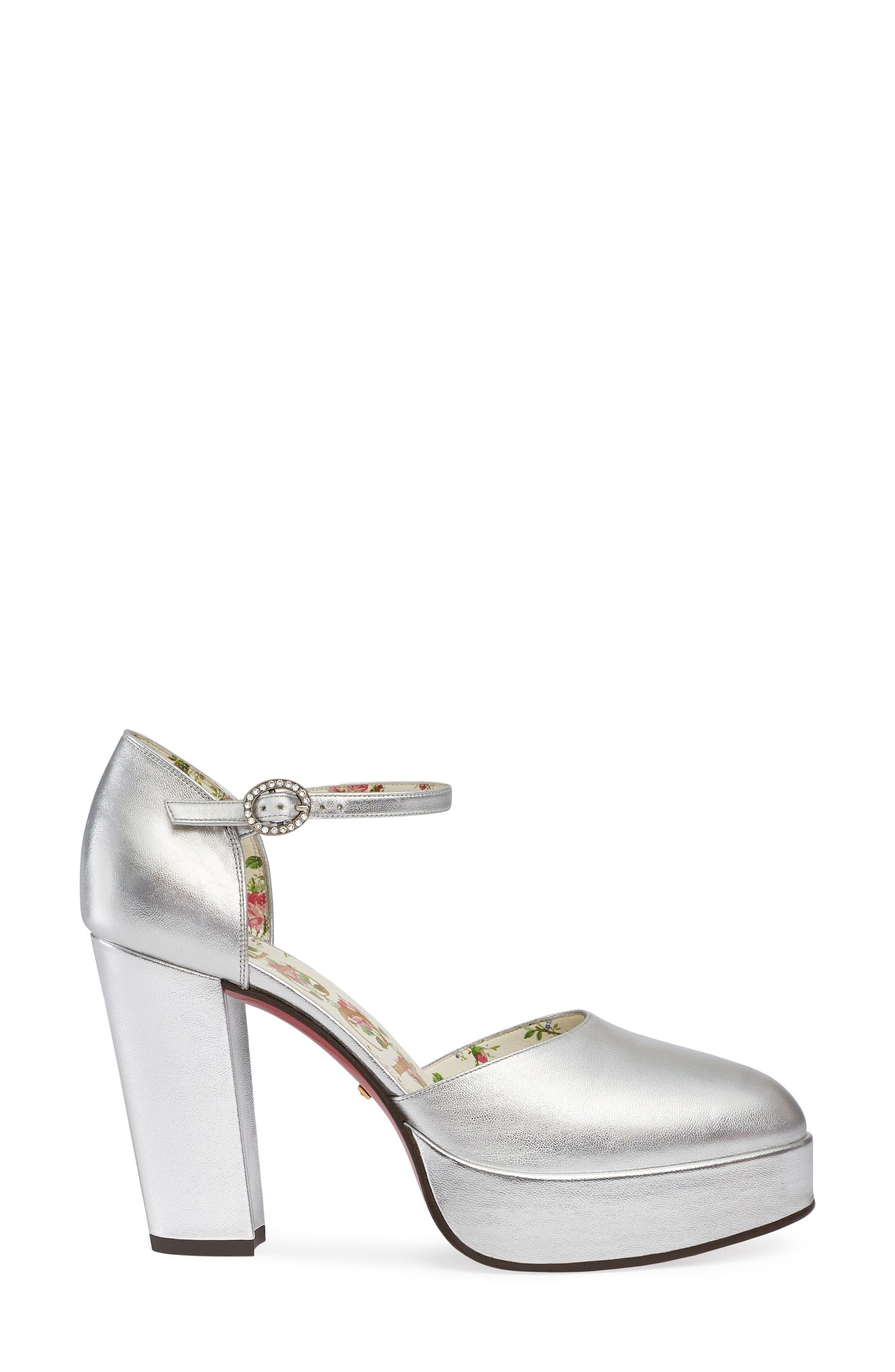 Alternate Image 2  - Gucci Agon Ankle Strap Platform Pump (Women)