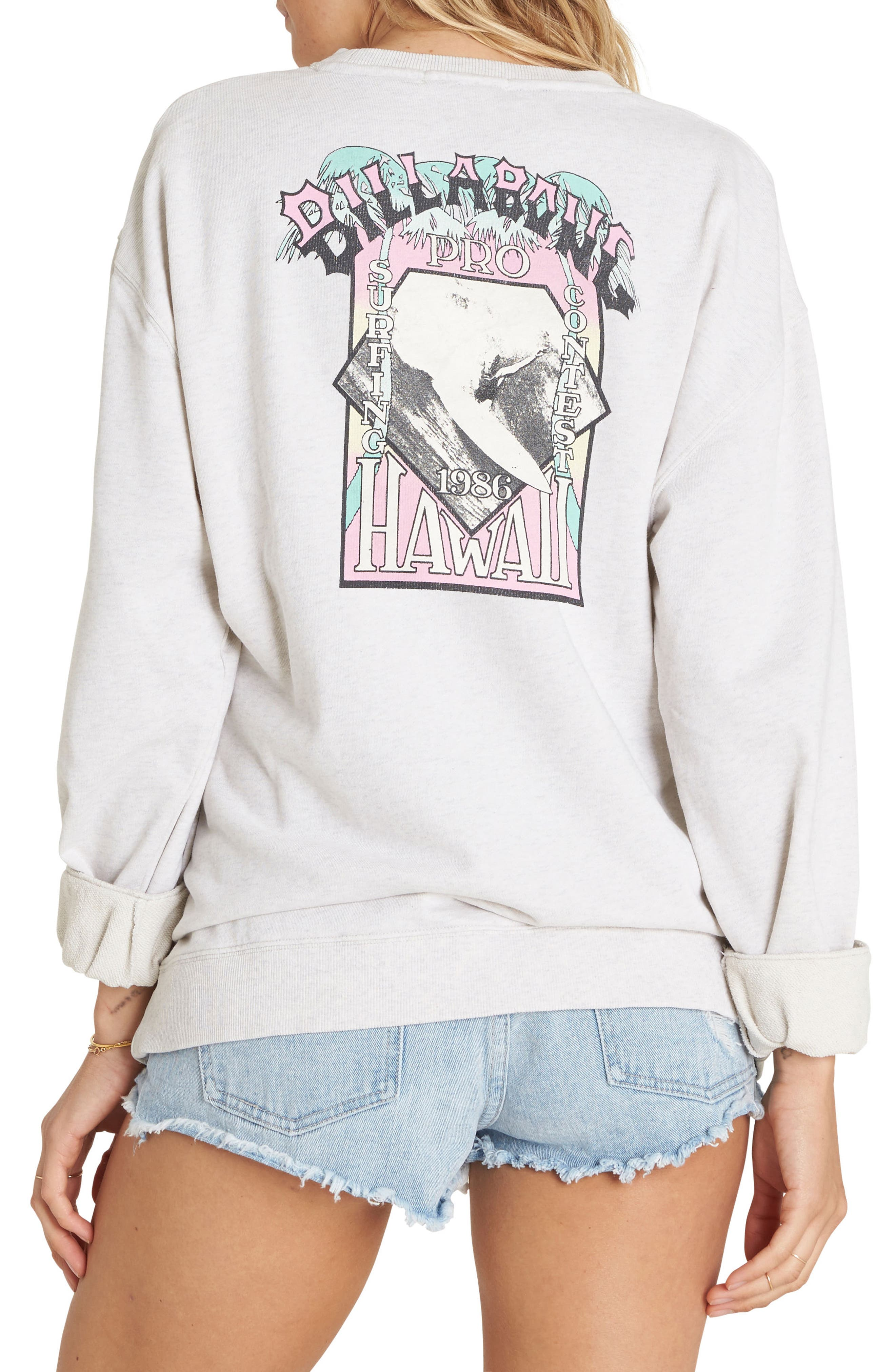 Alternate Image 2  - Billabong White Wash Sweatshirt