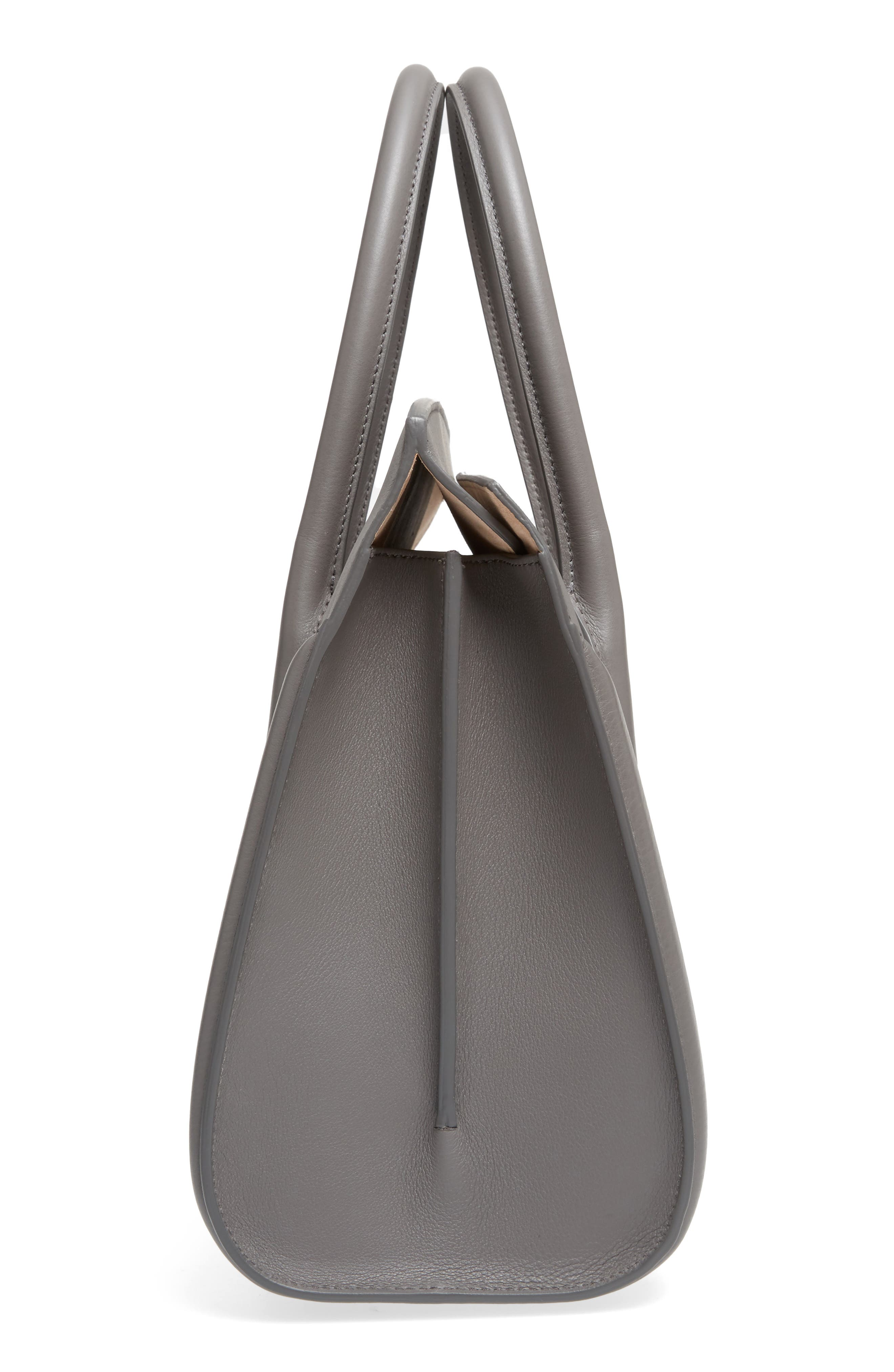 Alternate Image 5  - Alexander McQueen Large Heroine Calfskin Leather Shopper