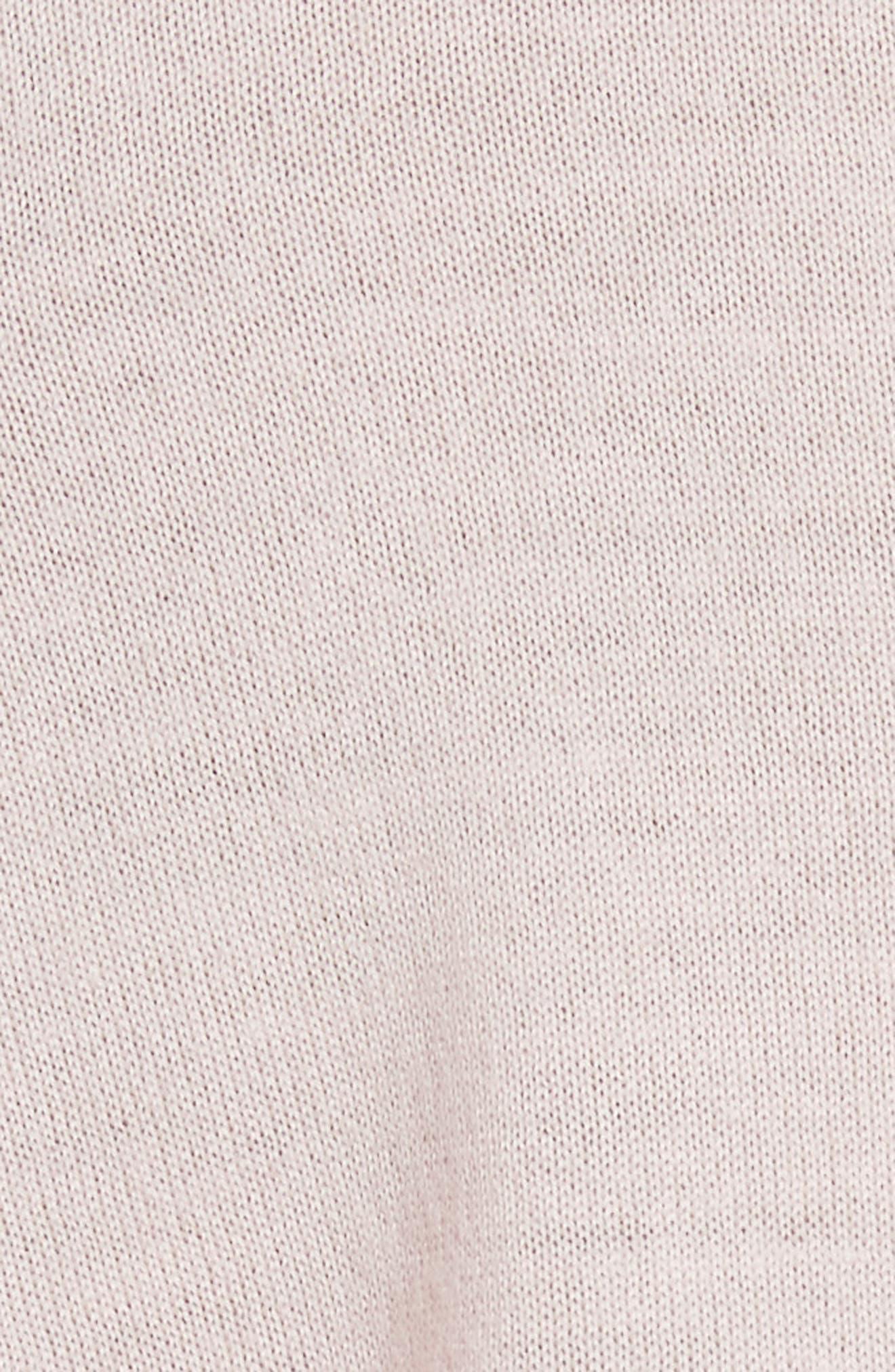 True Crewneck Wool Sweater,                             Alternate thumbnail 5, color,                             Powder Pink