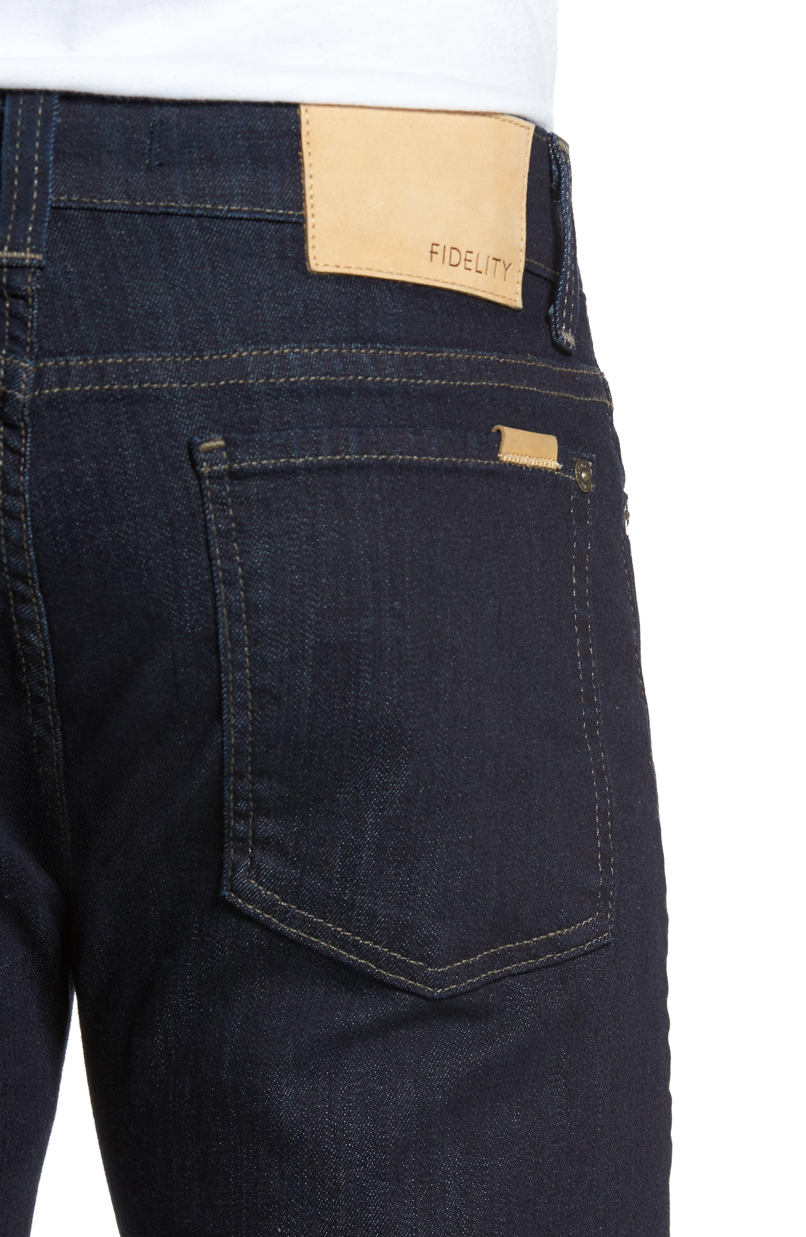 Alternate Image 4  - Fidelity Denim Slim Fit Jeans (Galaxy)