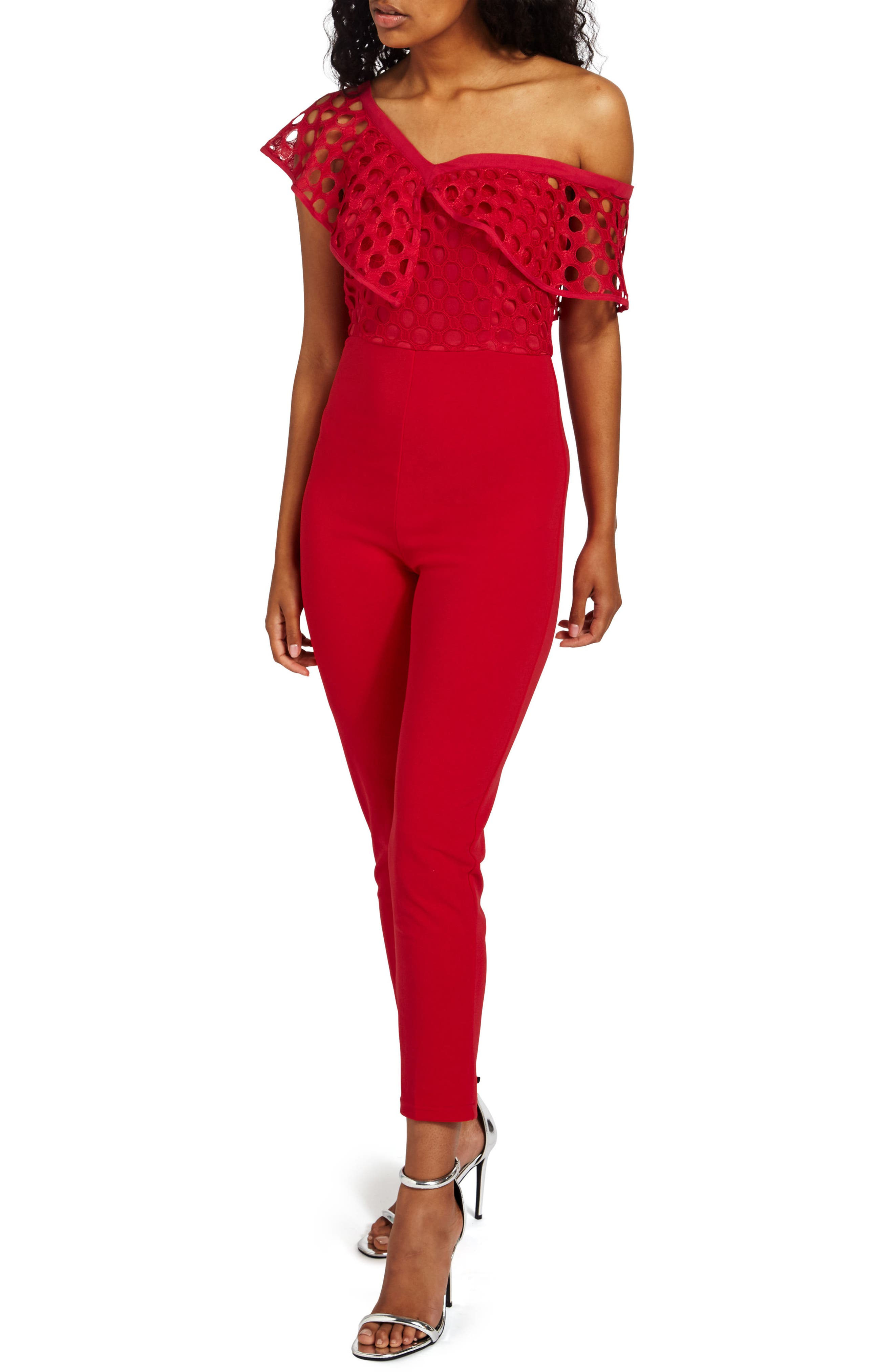 Missguided Frill Lace Bodice Jumpsuit