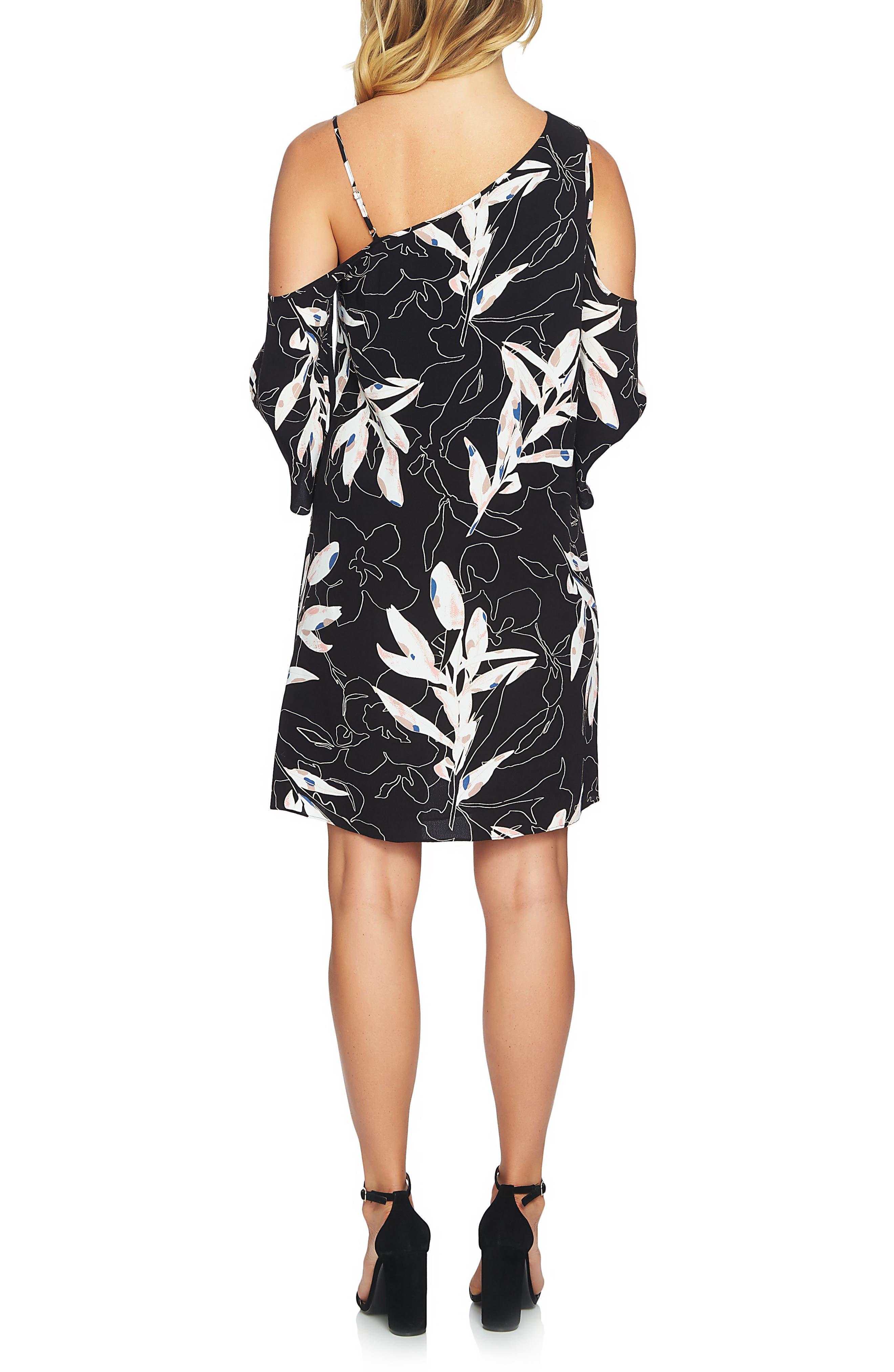 Alternate Image 2  - 1.STATE Cold Shoulder Shift Dress