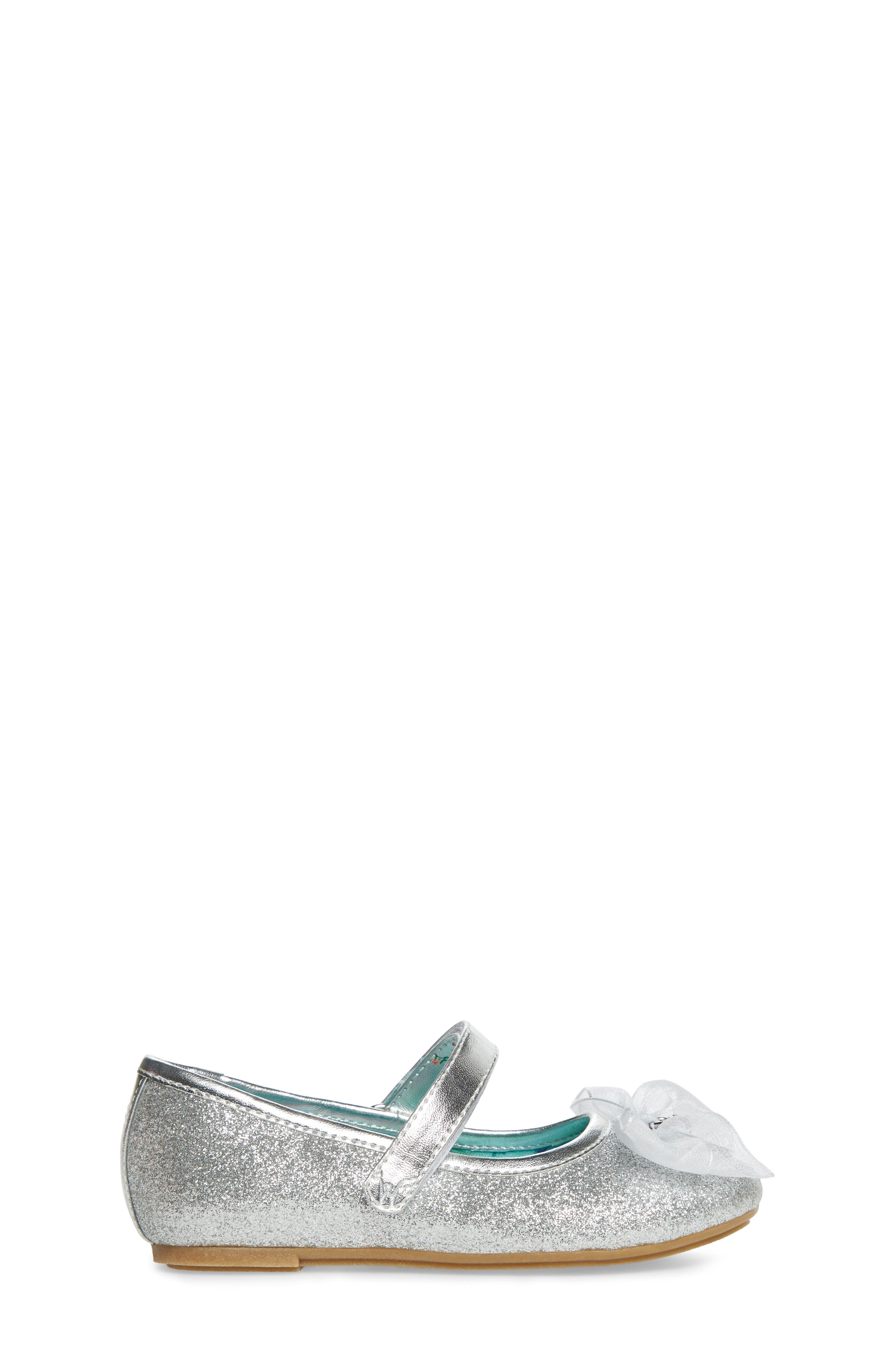 Camille Glitter Ballet Flat,                             Alternate thumbnail 3, color,                             Silver