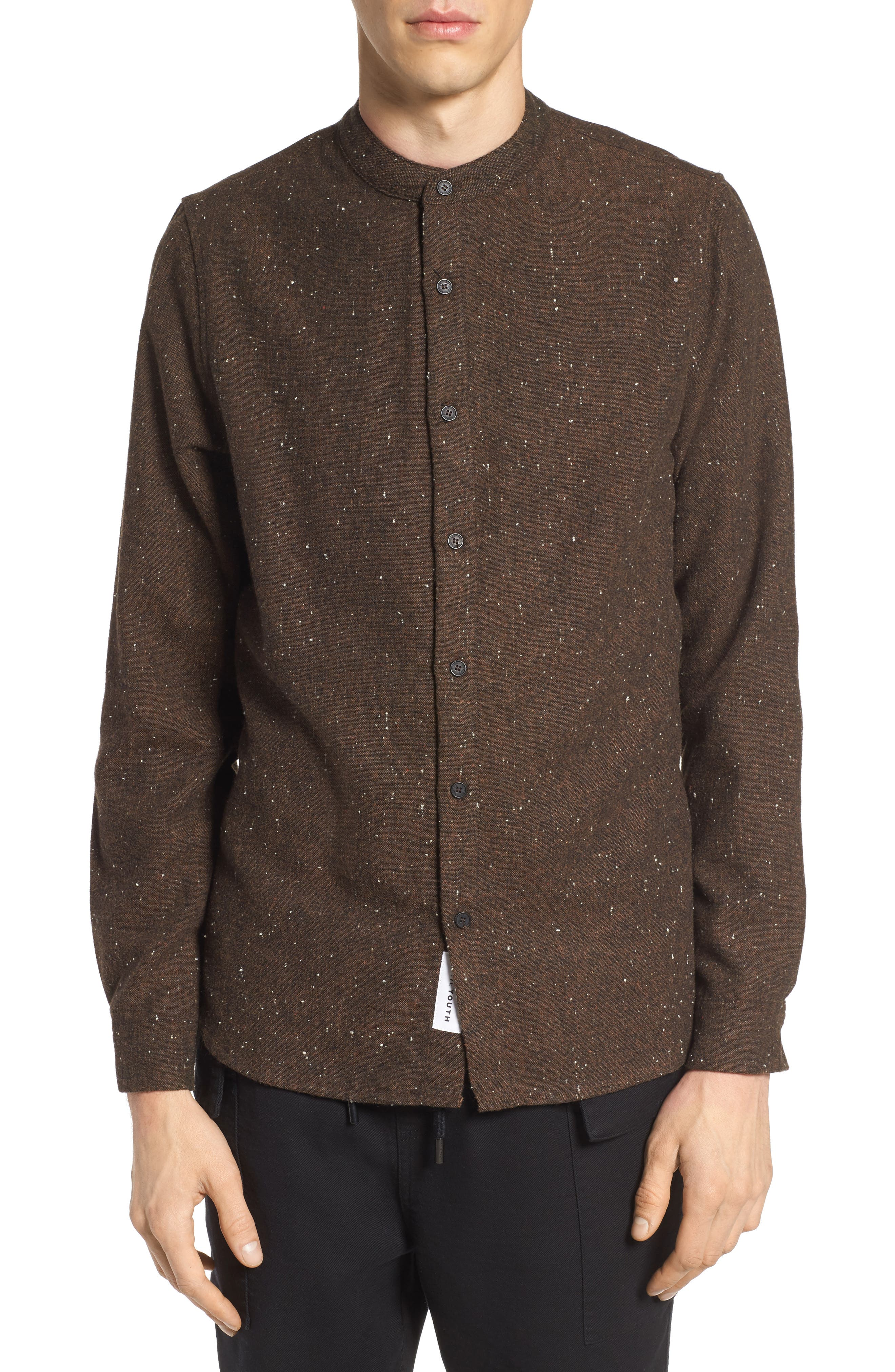 Alford Nep Shirt,                         Main,                         color, Brown
