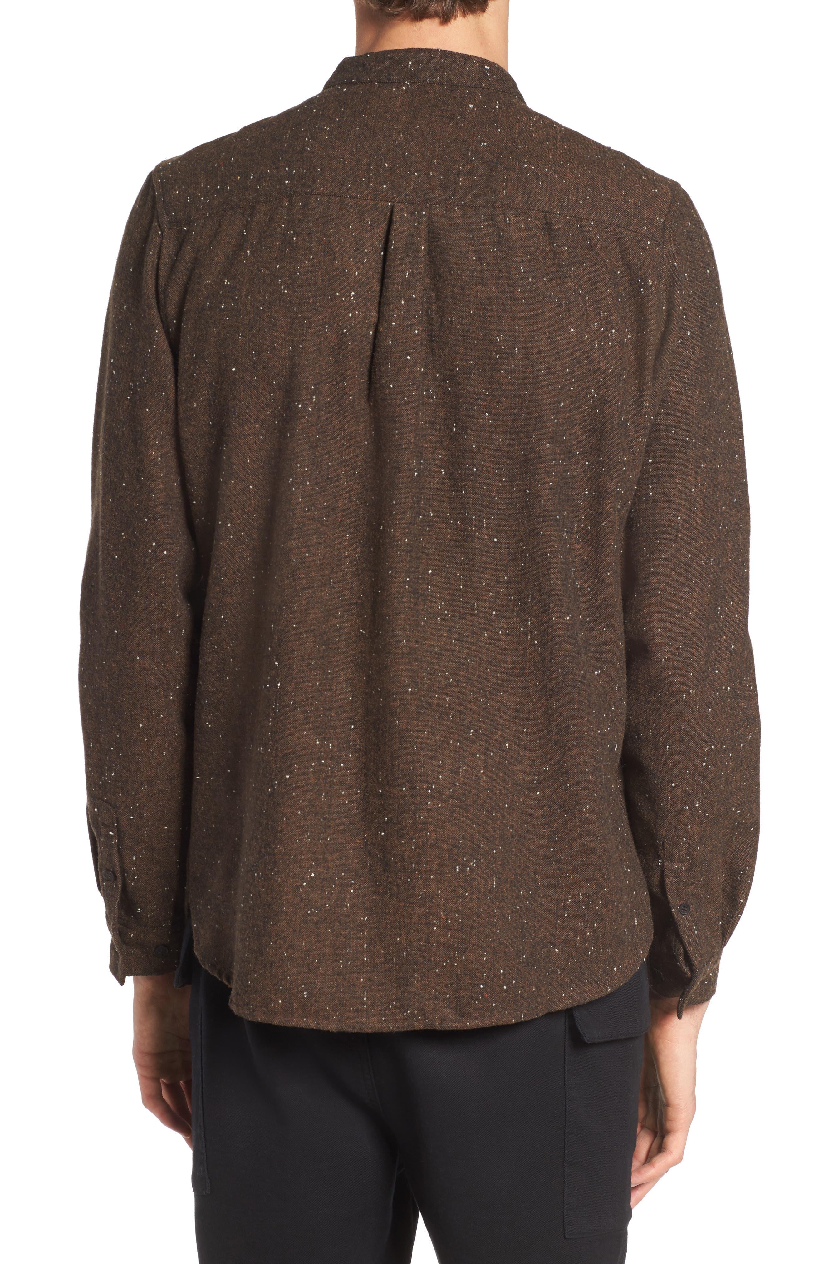 Alford Nep Shirt,                             Alternate thumbnail 2, color,                             Brown