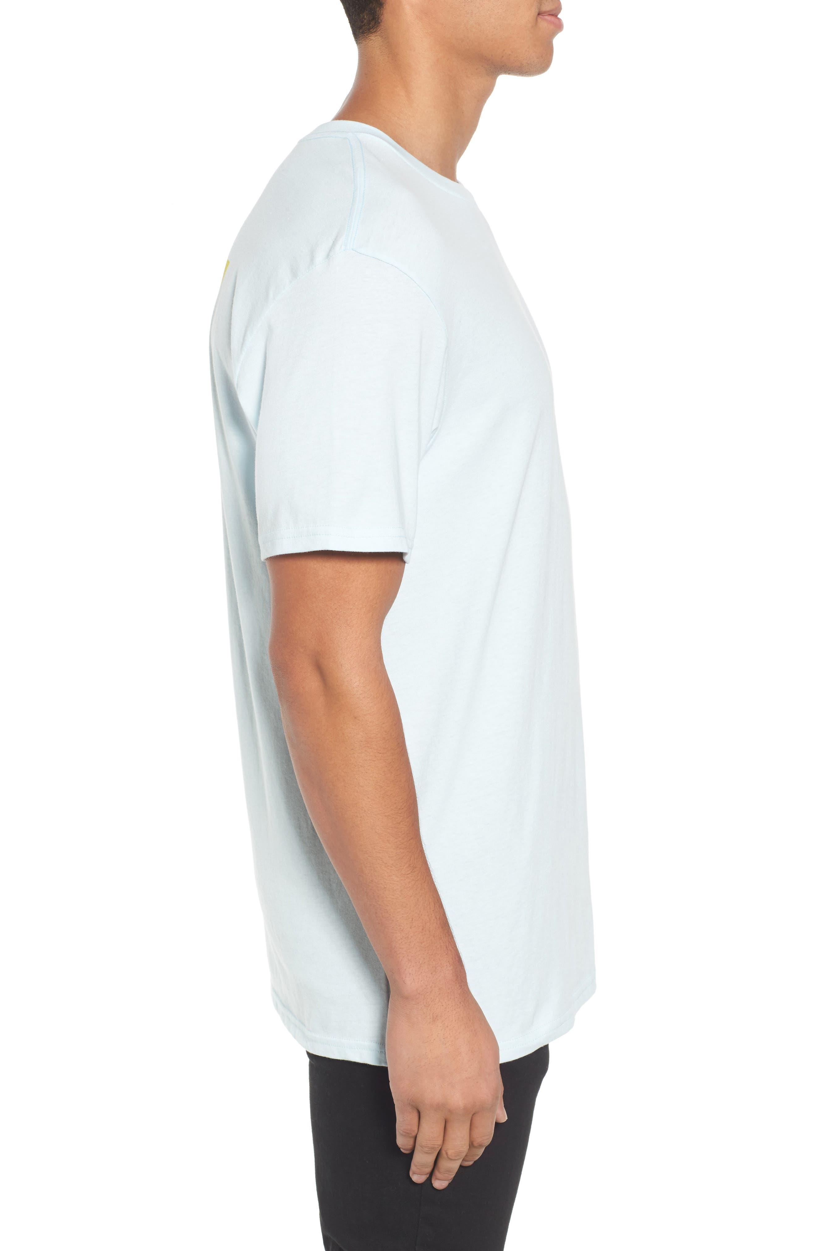 Die Cut Graphic T-Shirt,                             Alternate thumbnail 3, color,                             Coastal Blue