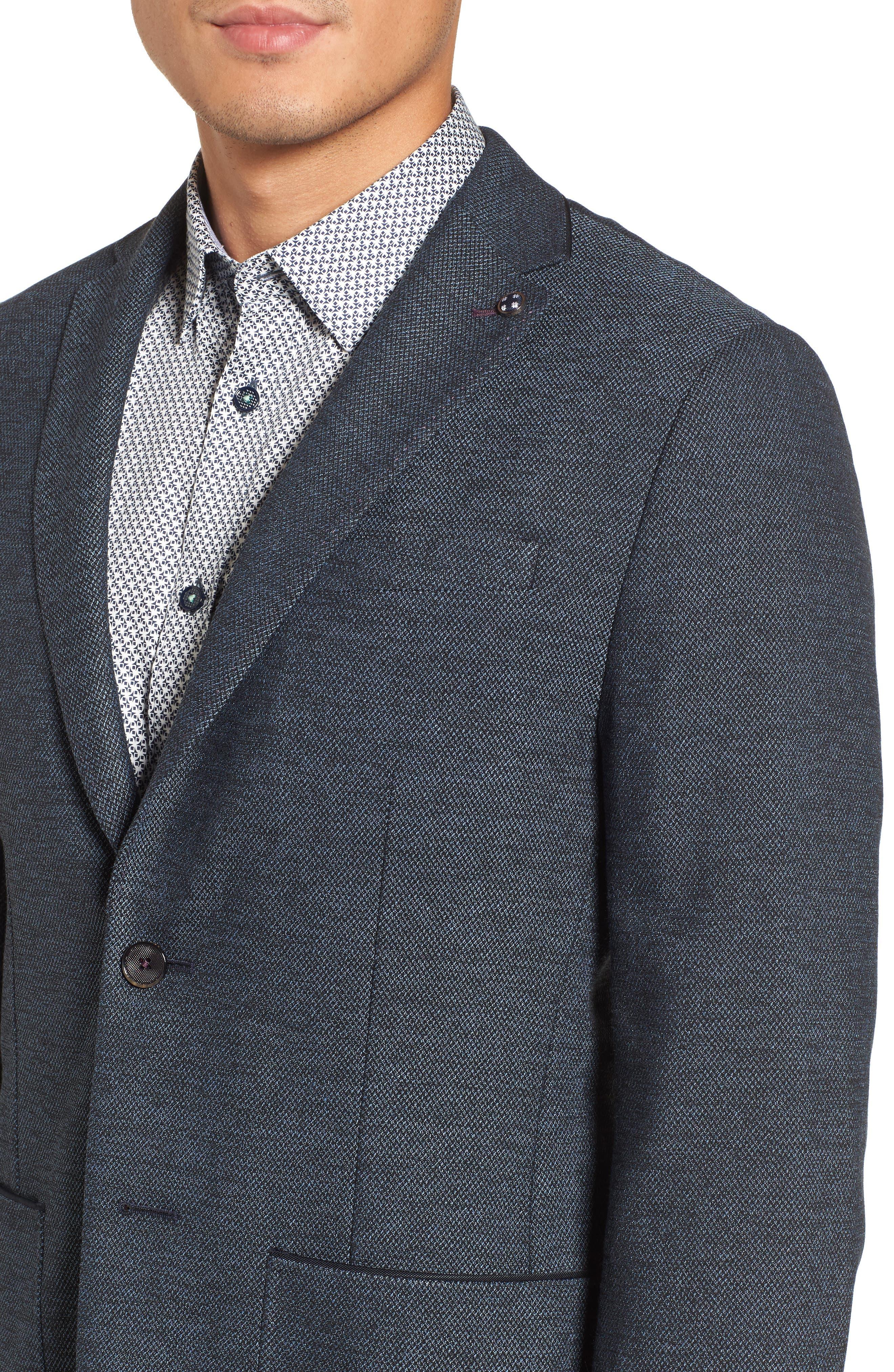 Port Slim Fit Jacket,                             Alternate thumbnail 4, color,                             Blue