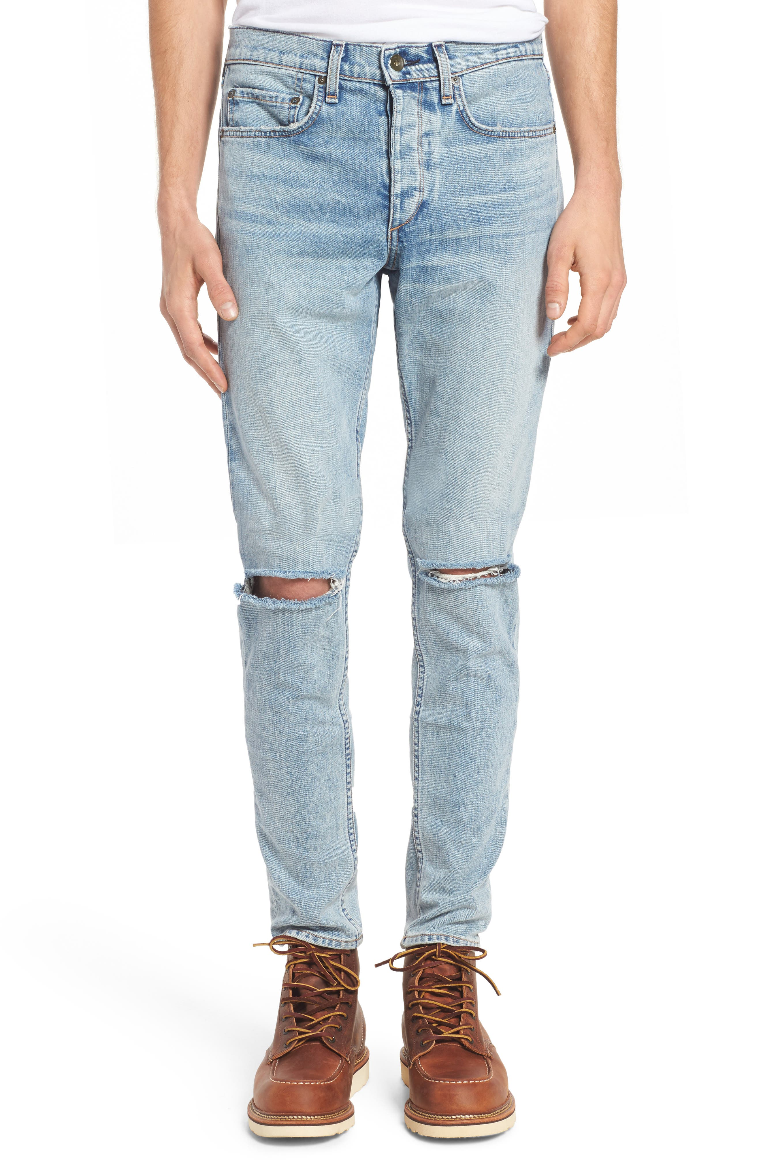 Alternate Image 1 Selected - rag & bone Fit 1 Skinny Fit Jeans (Jameson with Holes)