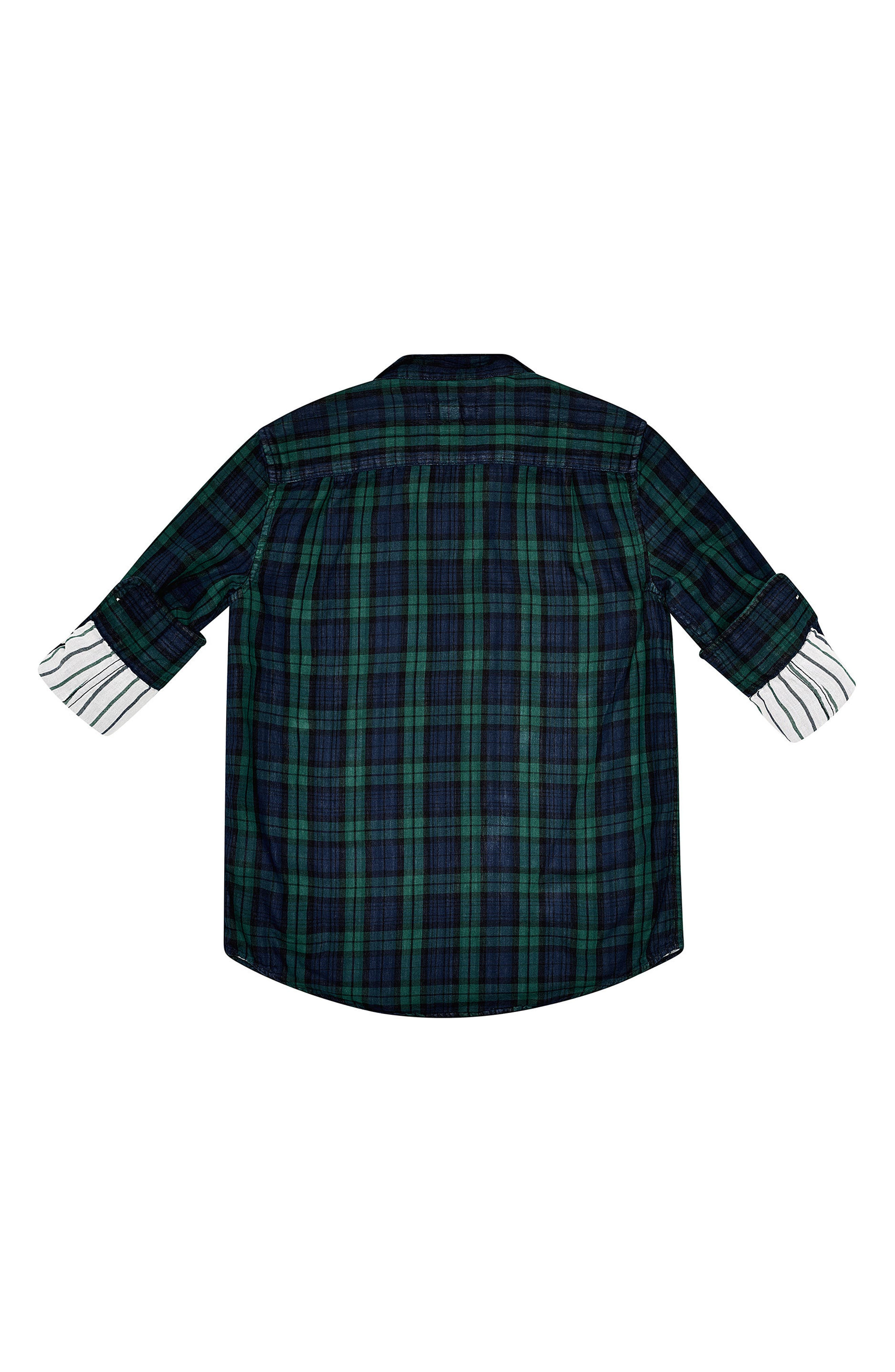 Plaid Woven Shirt,                             Alternate thumbnail 2, color,                             Green Double Faced Plaid