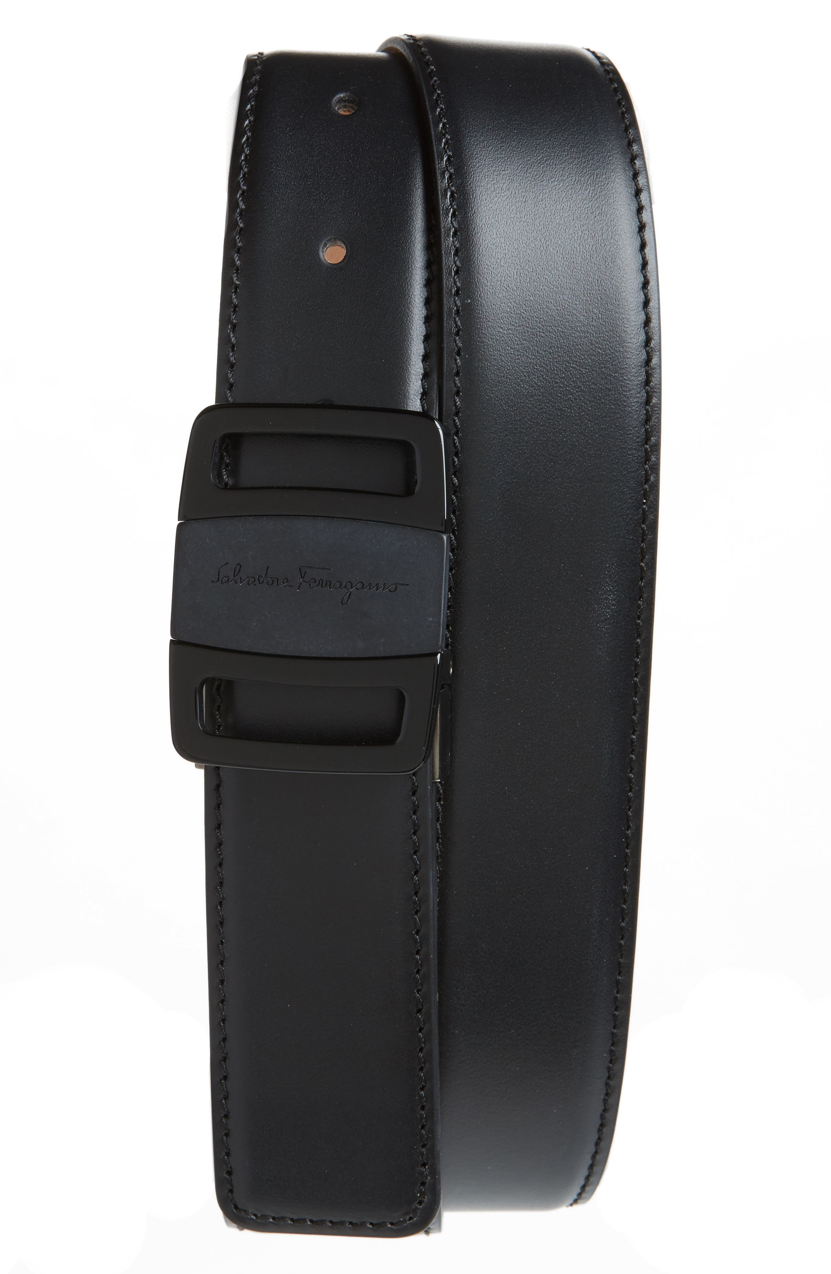 Alternate Image 1 Selected - Salvatore Ferragamo Vara Buckle Leather Belt