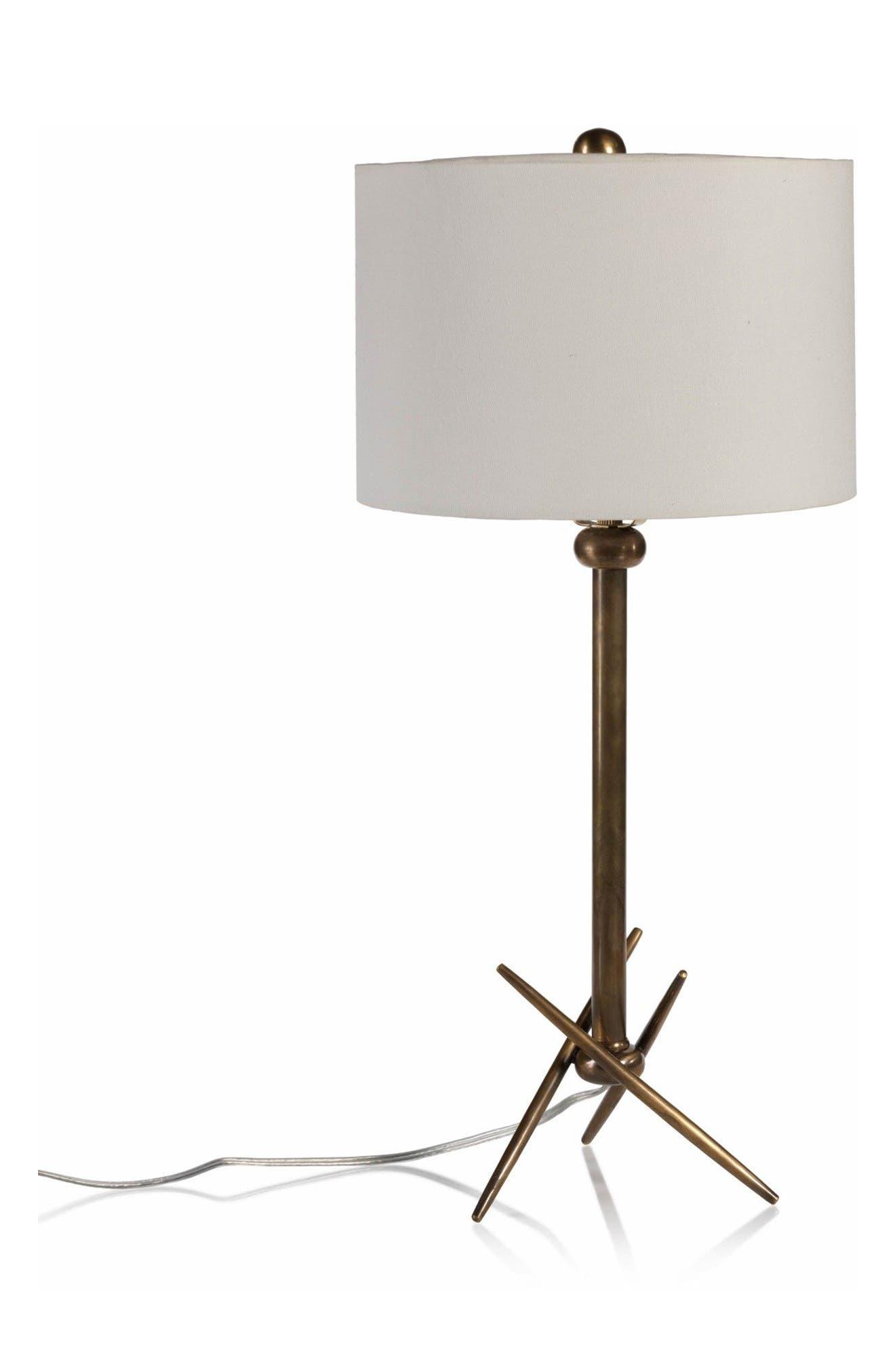 Palma Table Lamp,                         Main,                         color, White/ Gold