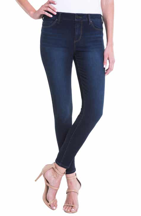 Liverpool Piper Hugger Lift Sculpt Ankle Skinny Jeans (Hydra) by LIVERPOOL