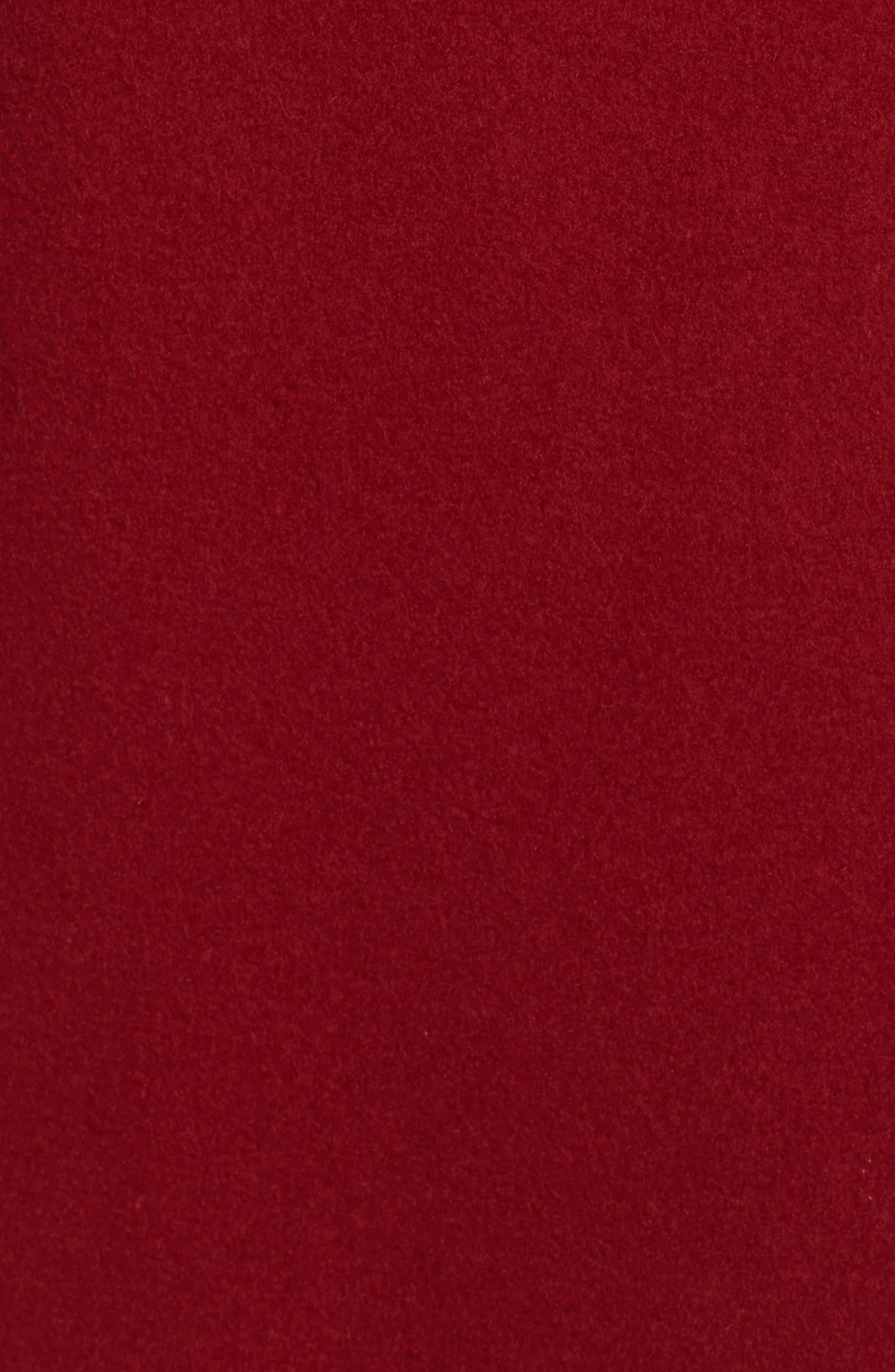 Norvegia Club Car Coat,                             Alternate thumbnail 6, color,                             Bordeaux