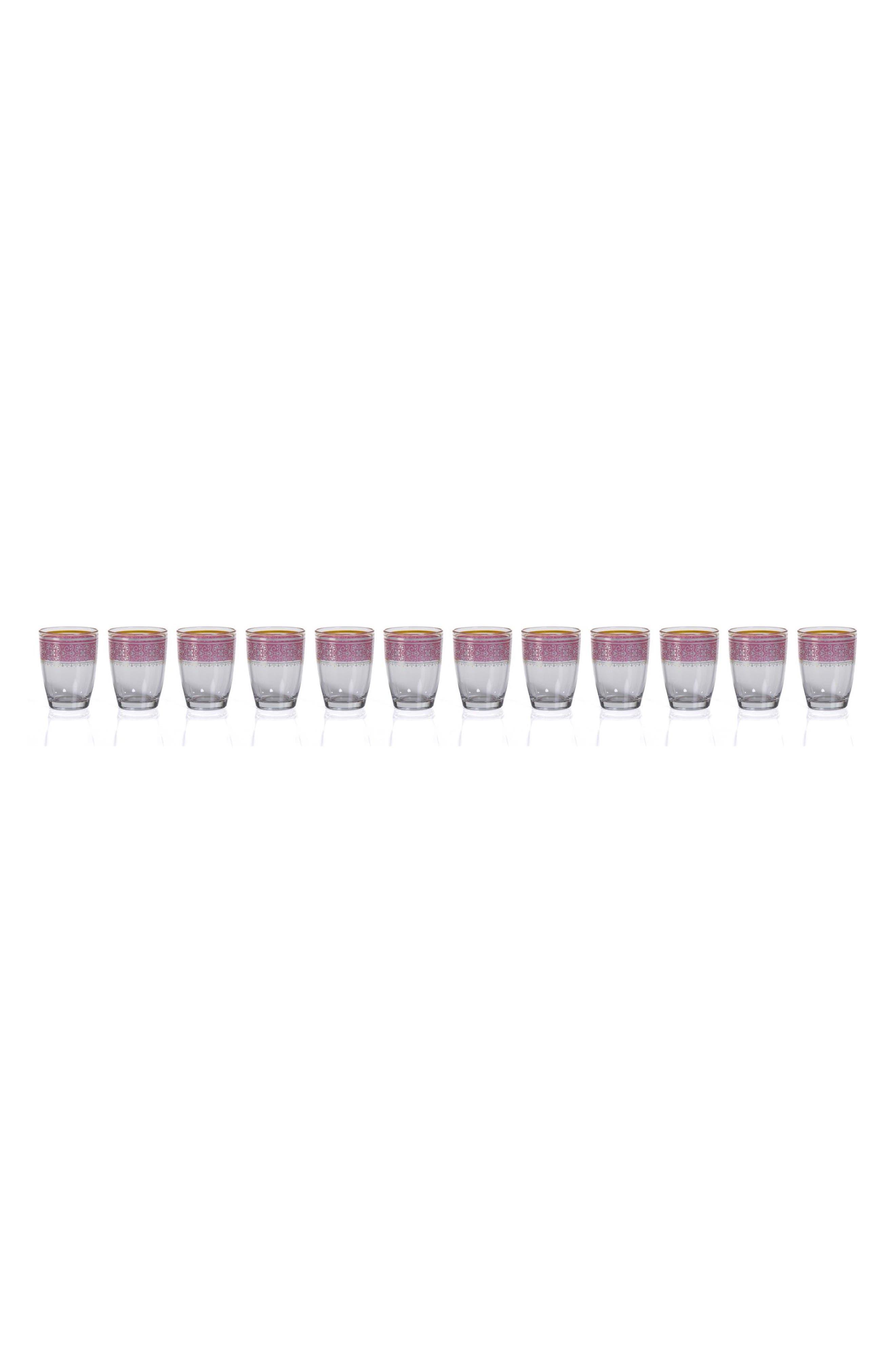 Casablanca Set of 12 Tealight Holders,                         Main,                         color, Clear/ Purple/ Multi