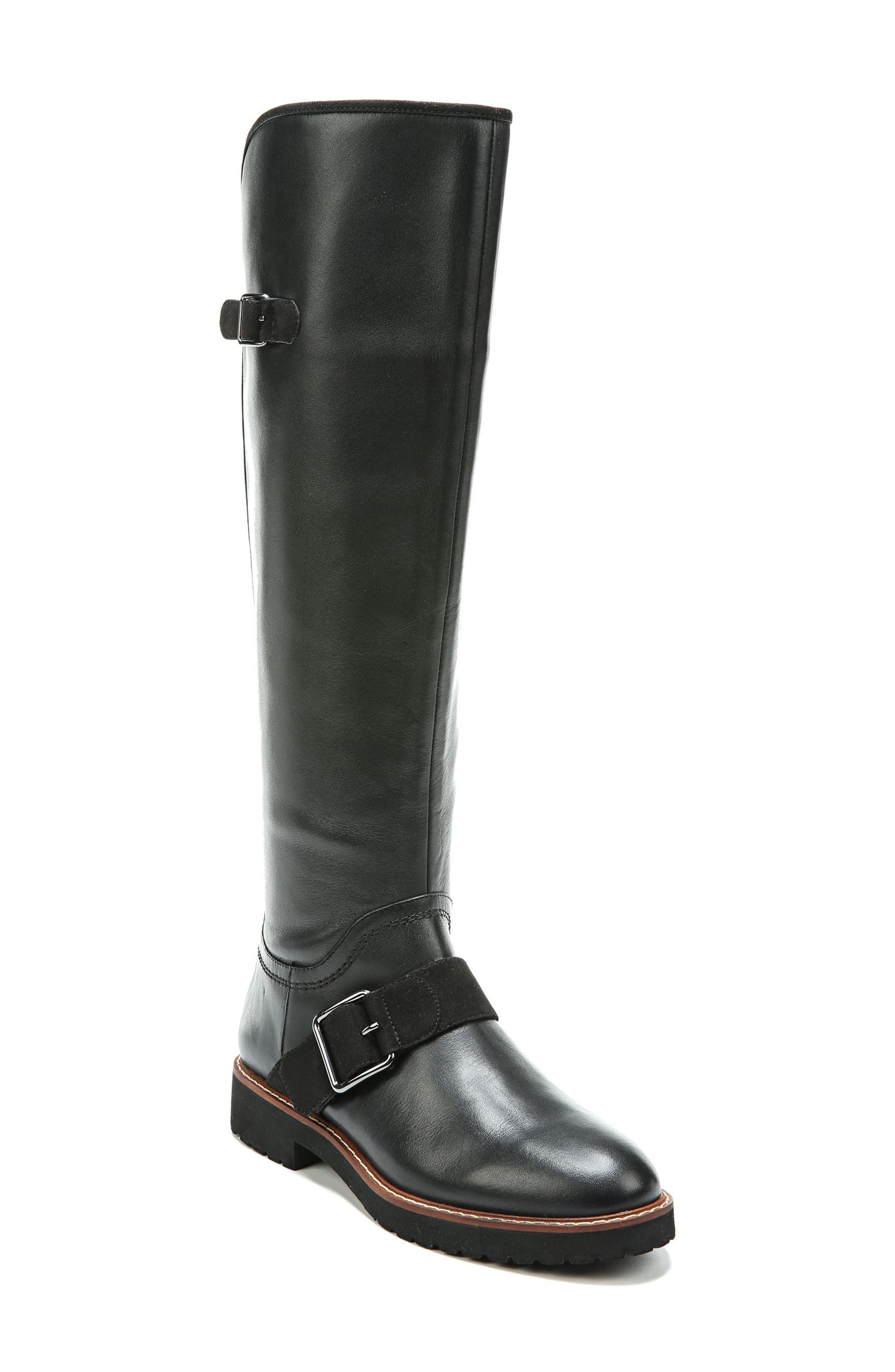 Cutler Riding Boot,                             Main thumbnail 1, color,                             Black Leather
