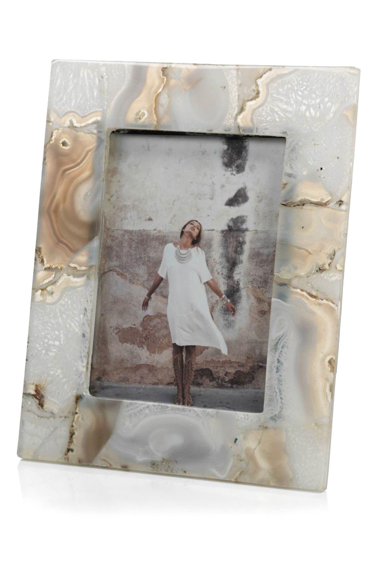 Preto Picture Frame,                         Main,                         color, Grey/ White/ Off-White