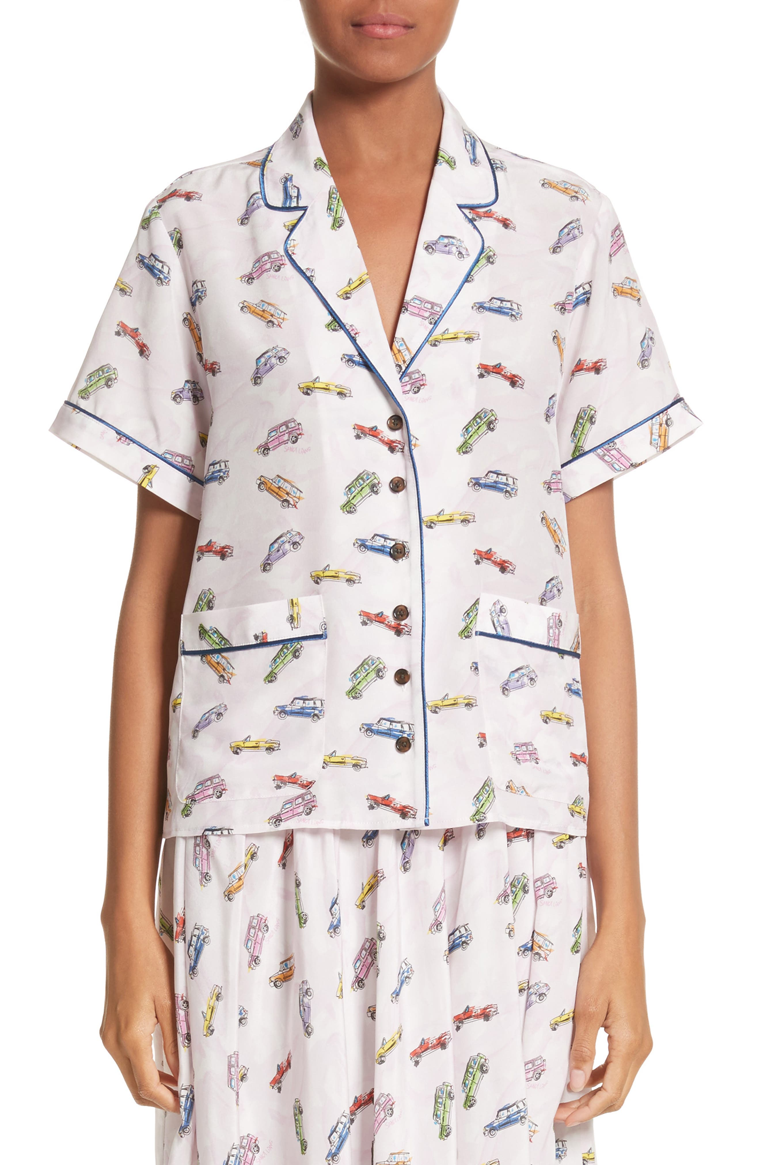 Coconuts Car Print Top,                         Main,                         color, Sweet 16