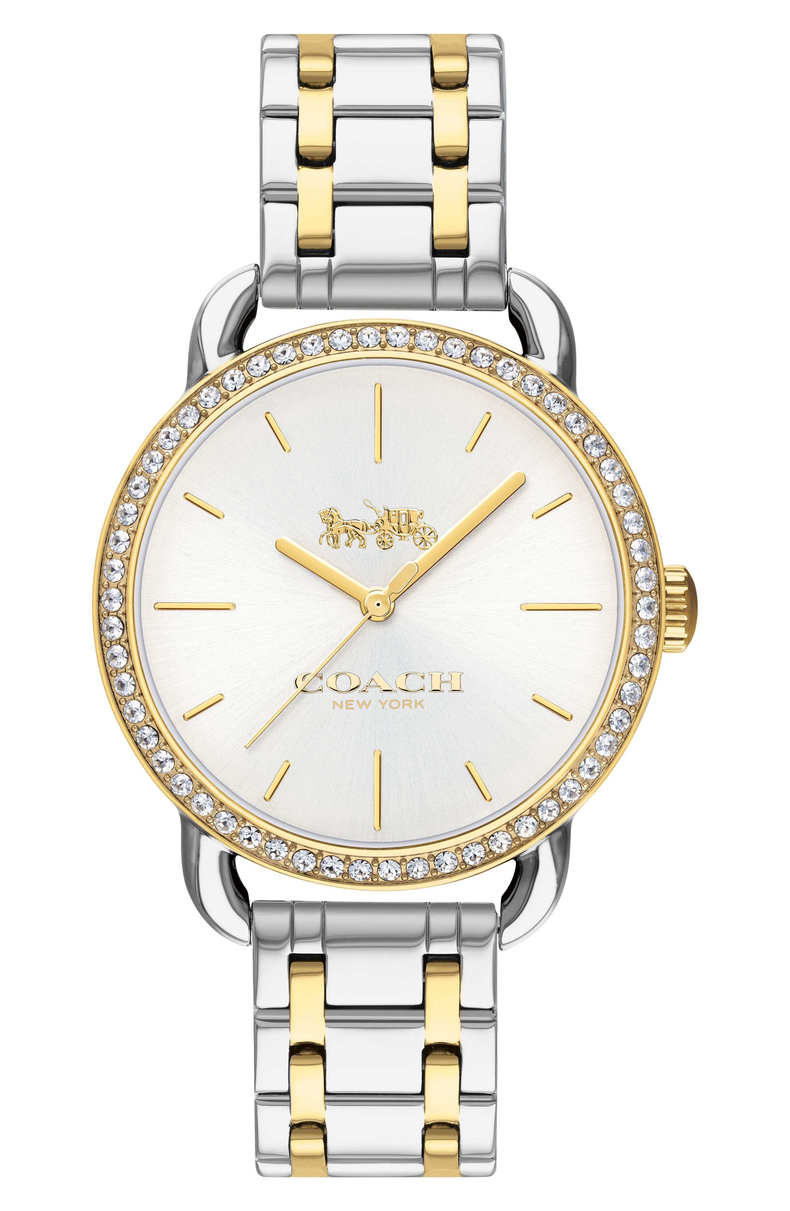 Lex Crystal Bracelet Watch, 32mm,                         Main,                         color, Gold/ Silver/ Gold