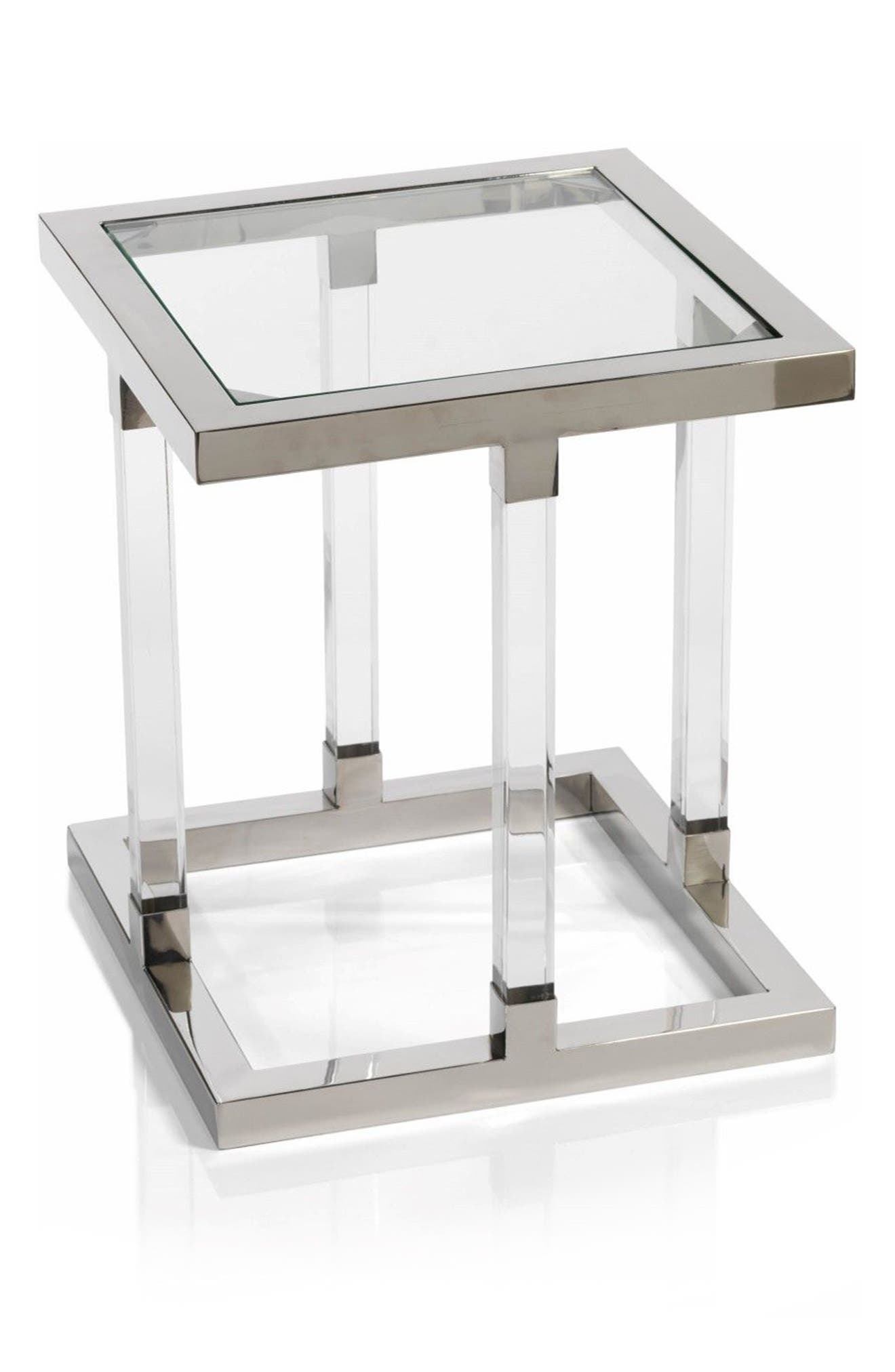 Amalfi Side Table,                             Main thumbnail 1, color,                             Silver