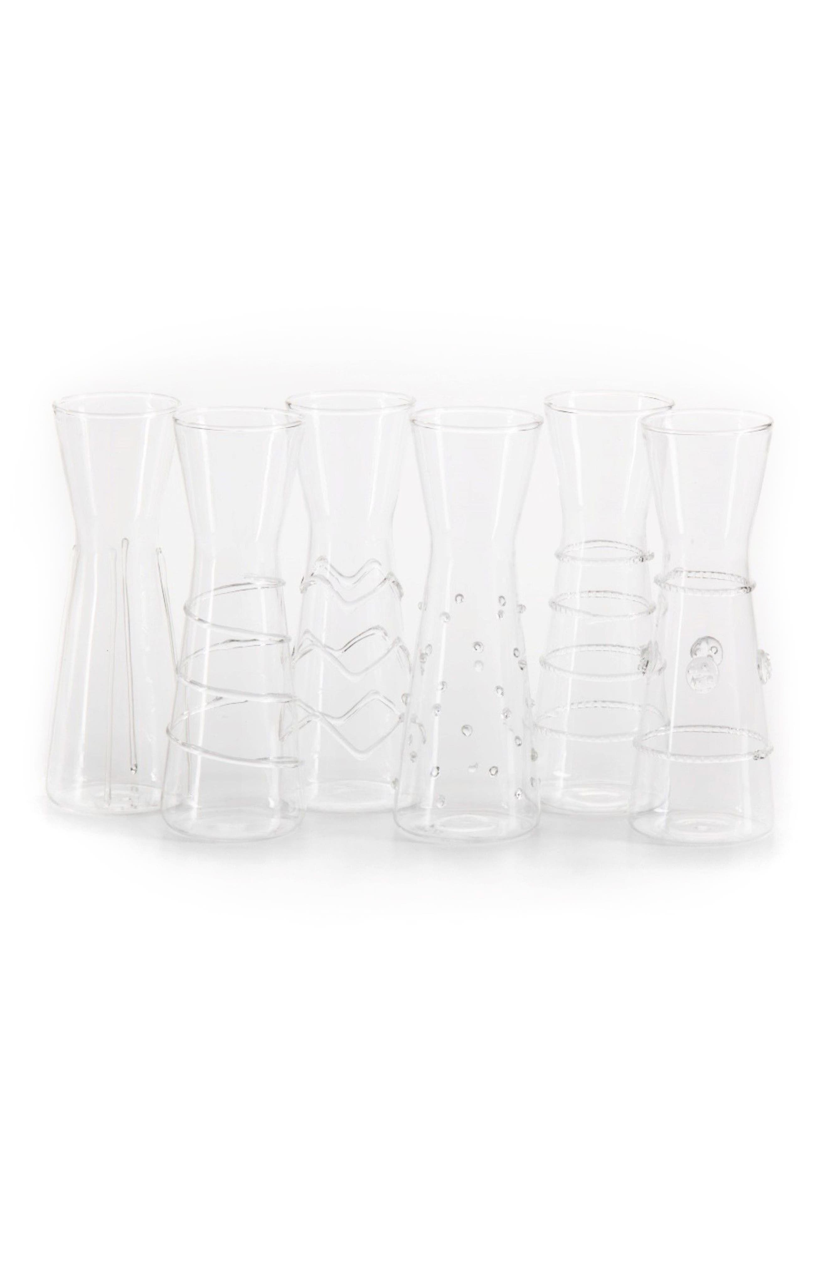 Zalli Set of 6 Glasses,                             Main thumbnail 1, color,                             Clear