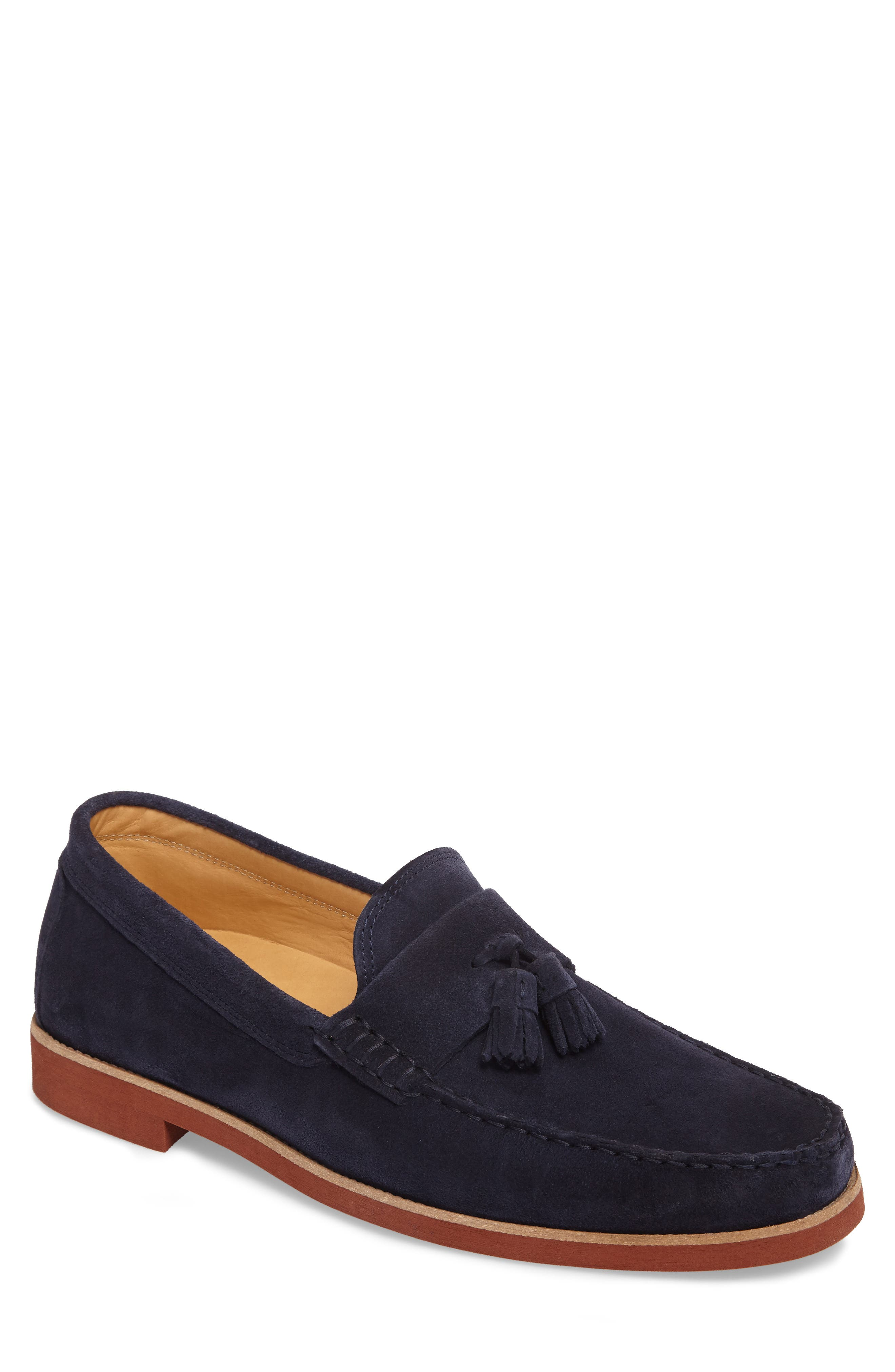 Stowes Tassel Loafer,                         Main,                         color, Navy Suede